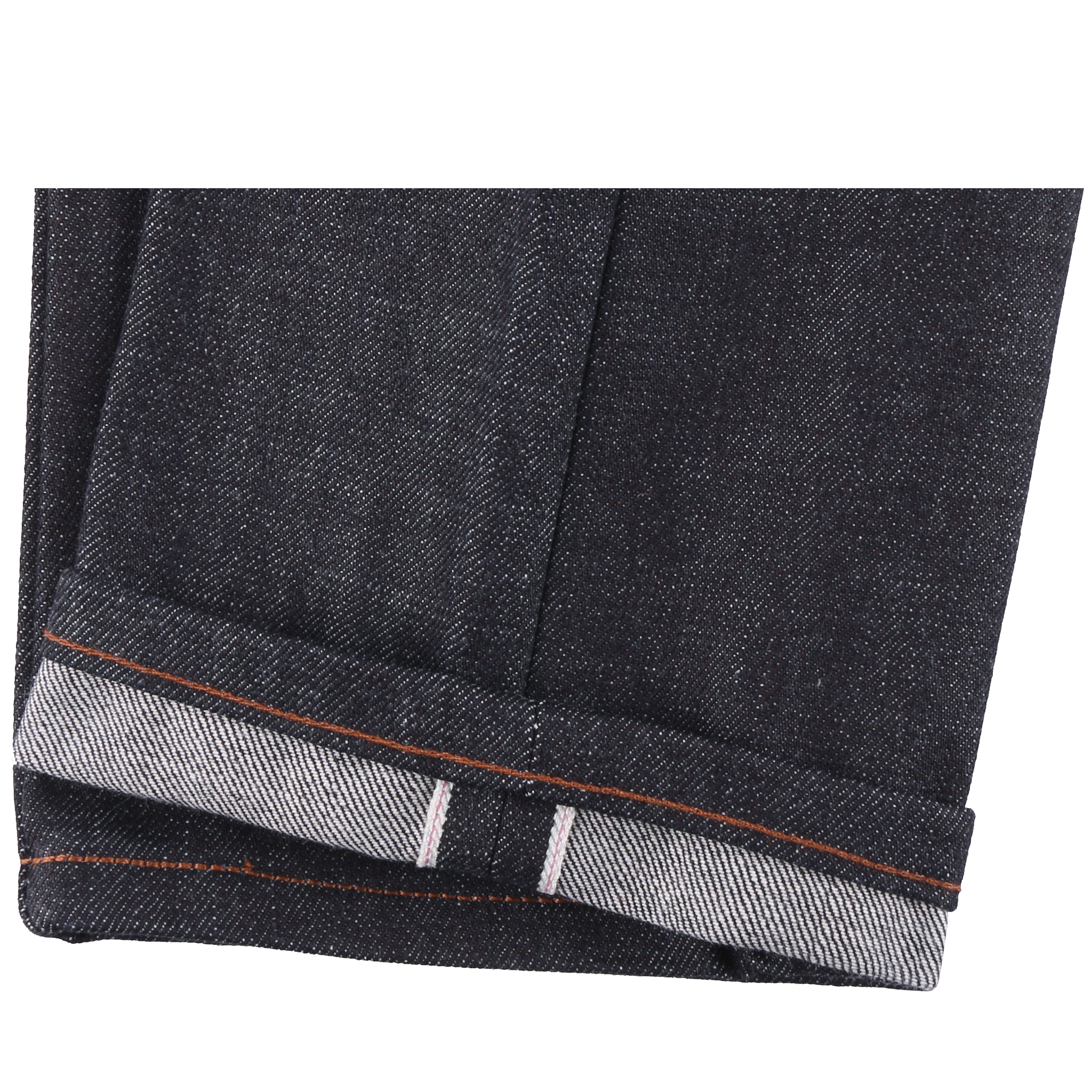 Deep Indigo Rigid Selvedge Jeans hem
