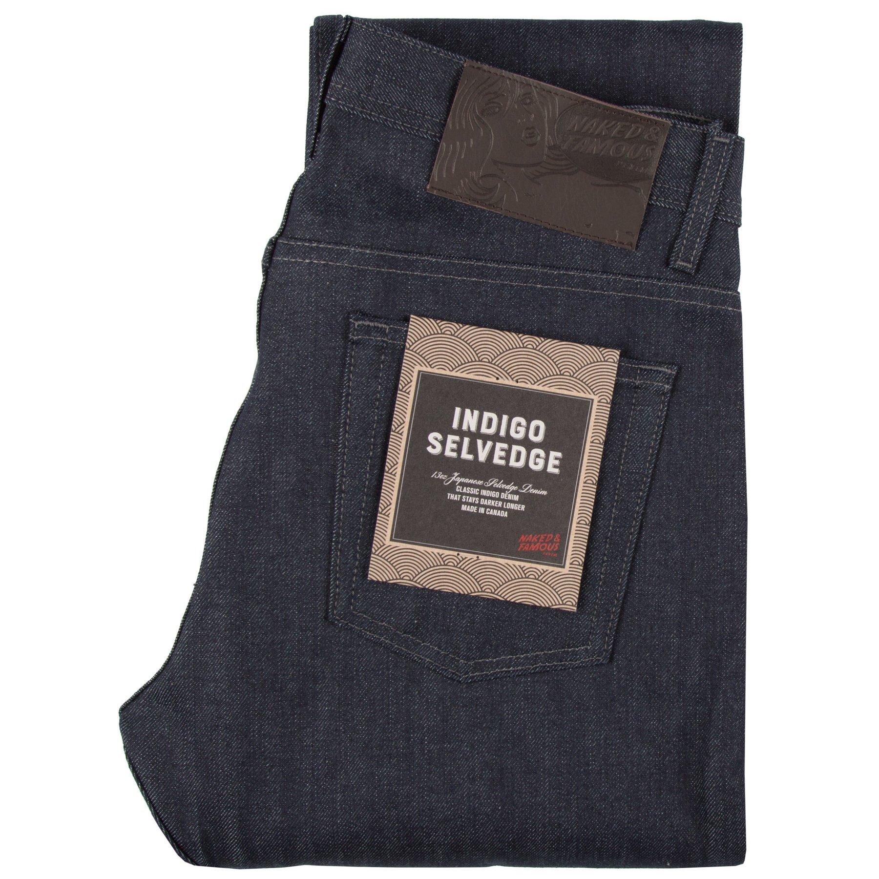 Indigo Selvedge Jeans Folded