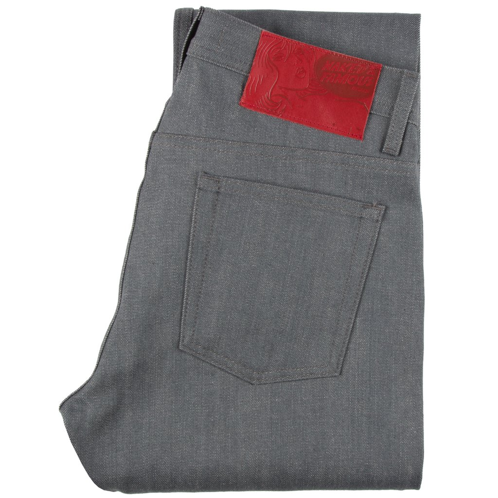 Grey Selvedge Jeans folded