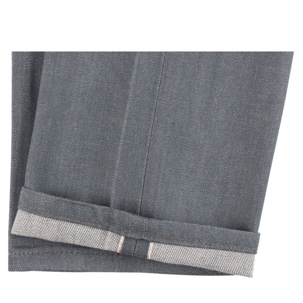 Grey Selvedge Jeans hem
