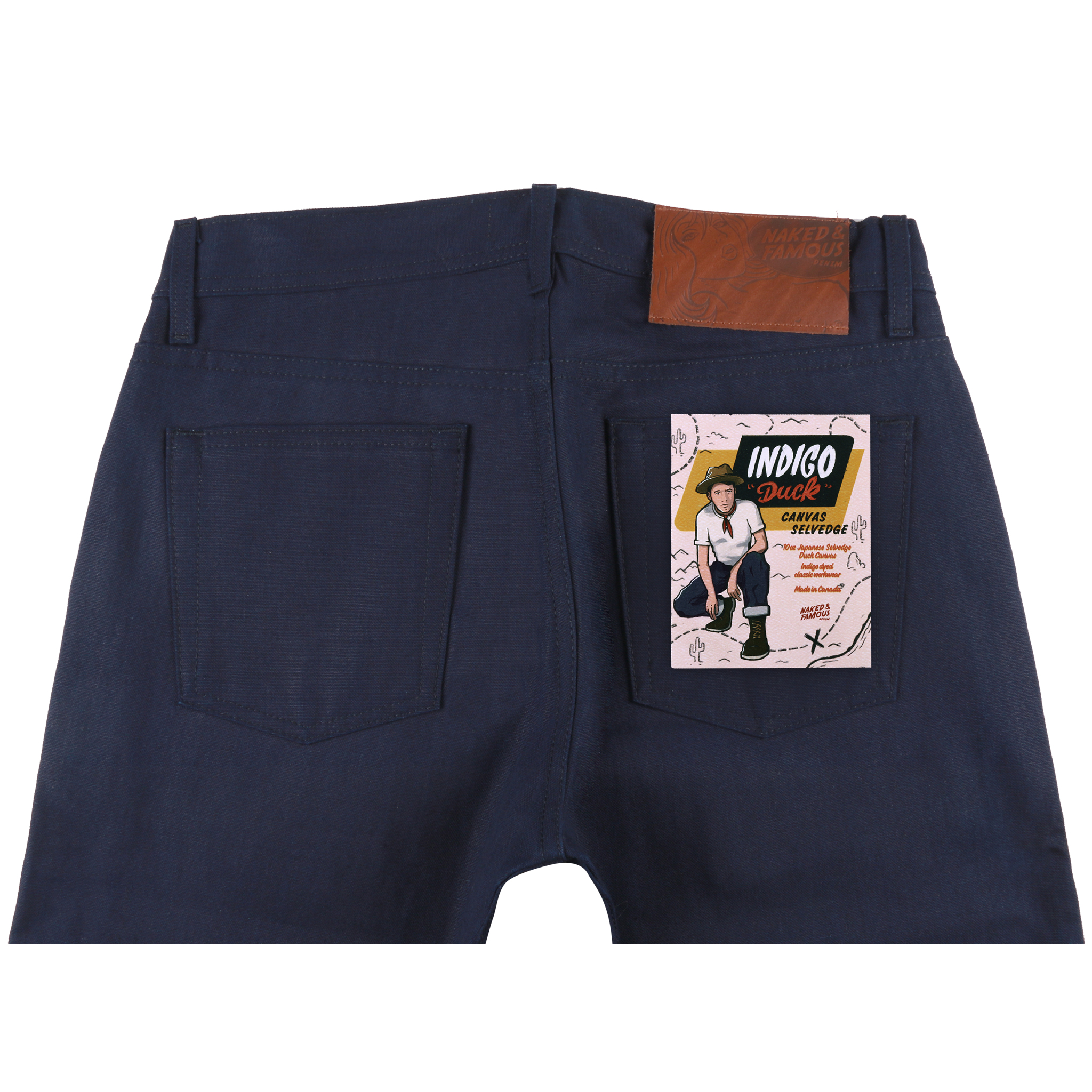 Indigo Duck Canvas Selvedge jeans back