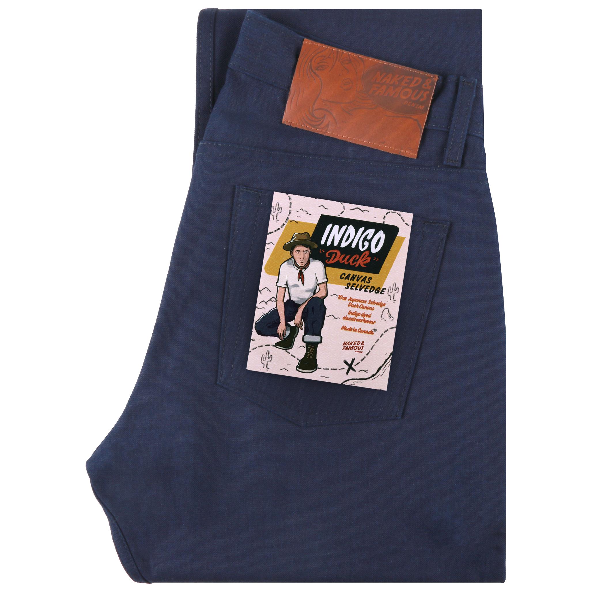 Indigo Duck Canvas Selvedge jeans folded