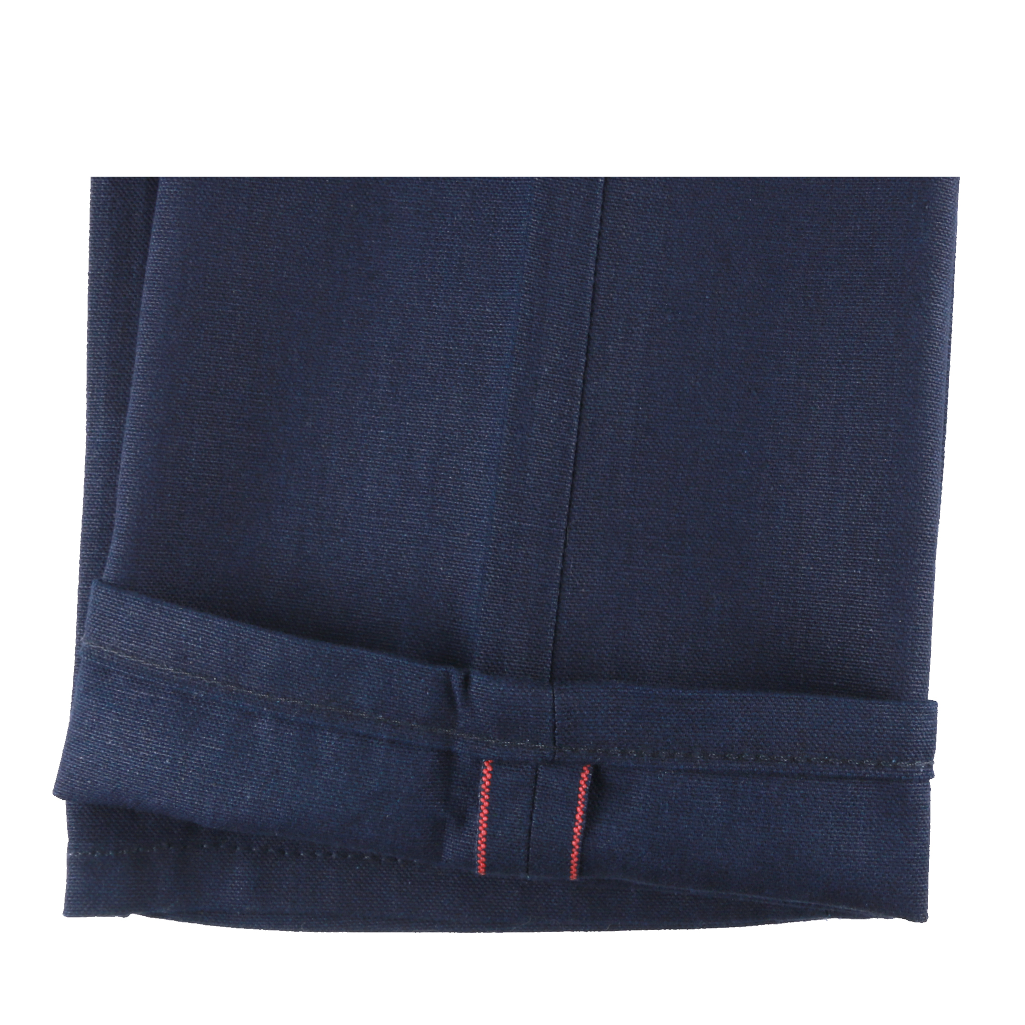 Indigo Duck Canvas Selvedge jeans hem