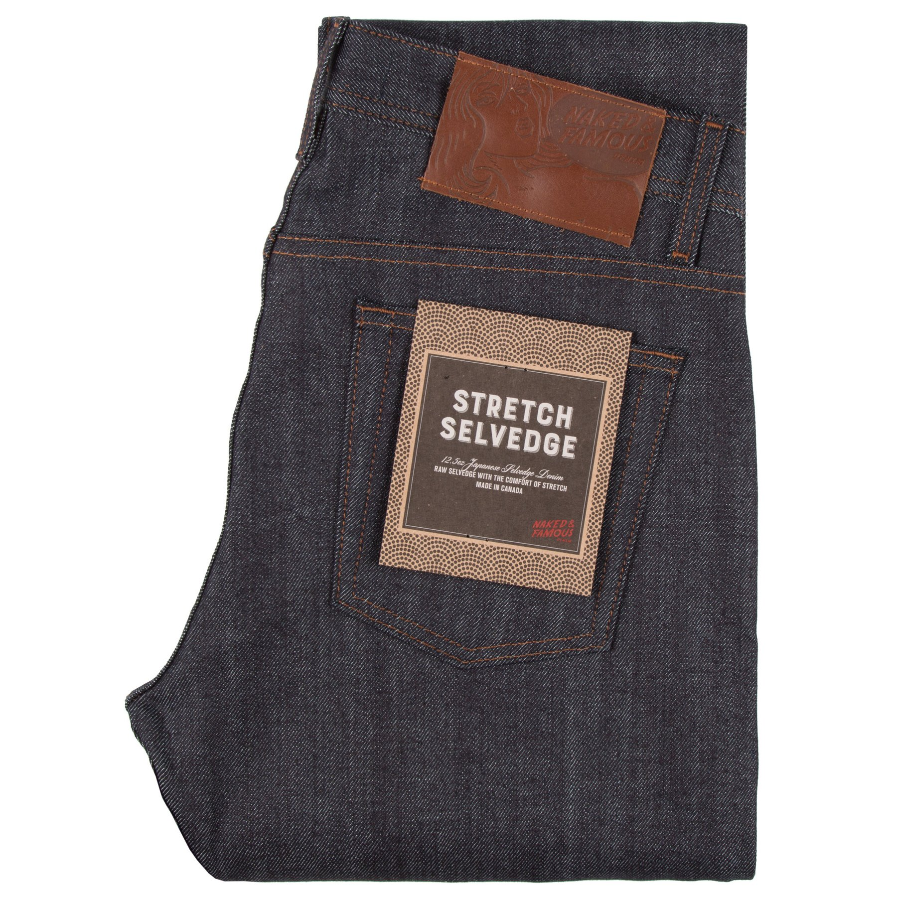 Stretch Selvedge Jeans Folded
