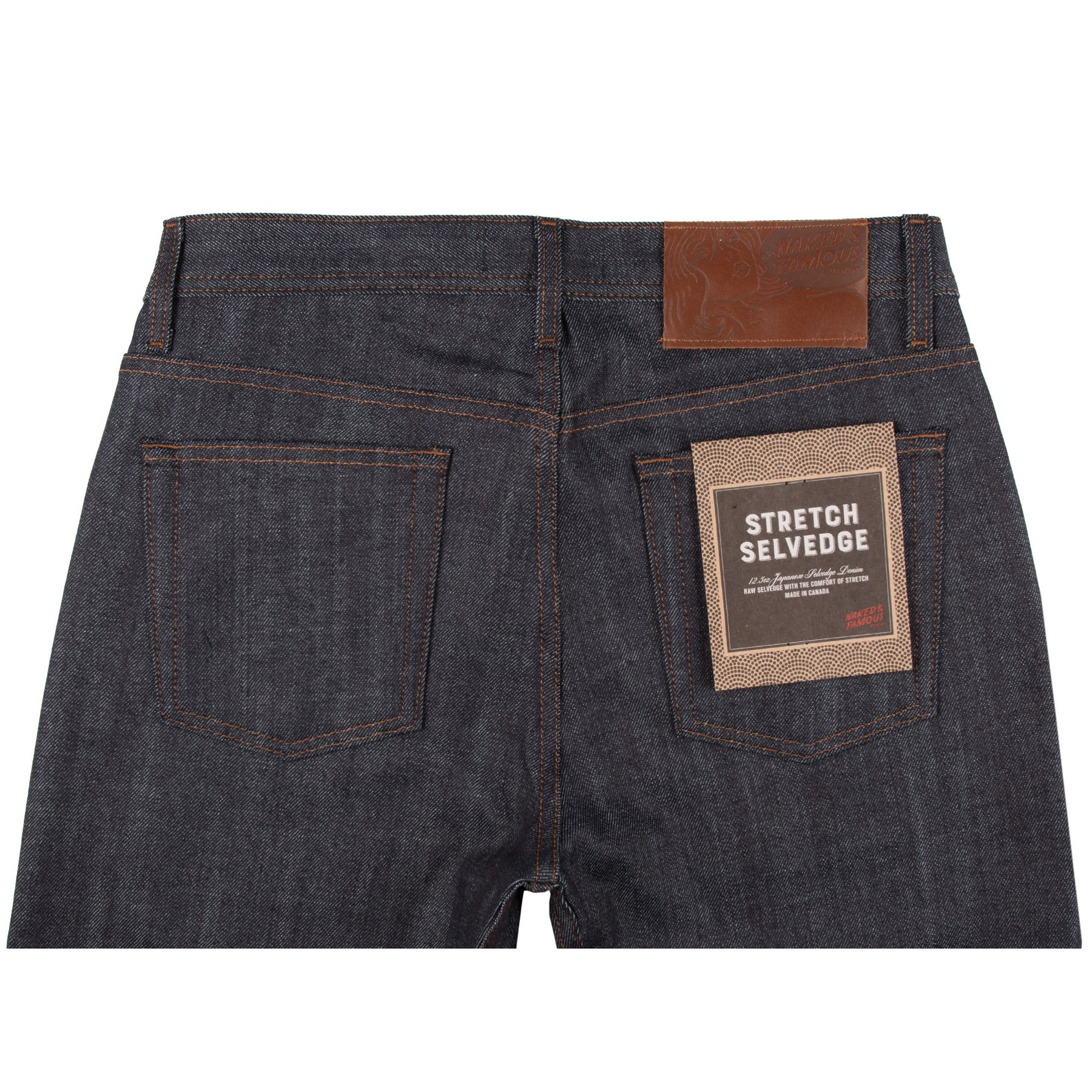 Stretch Selvedge Jeans Back