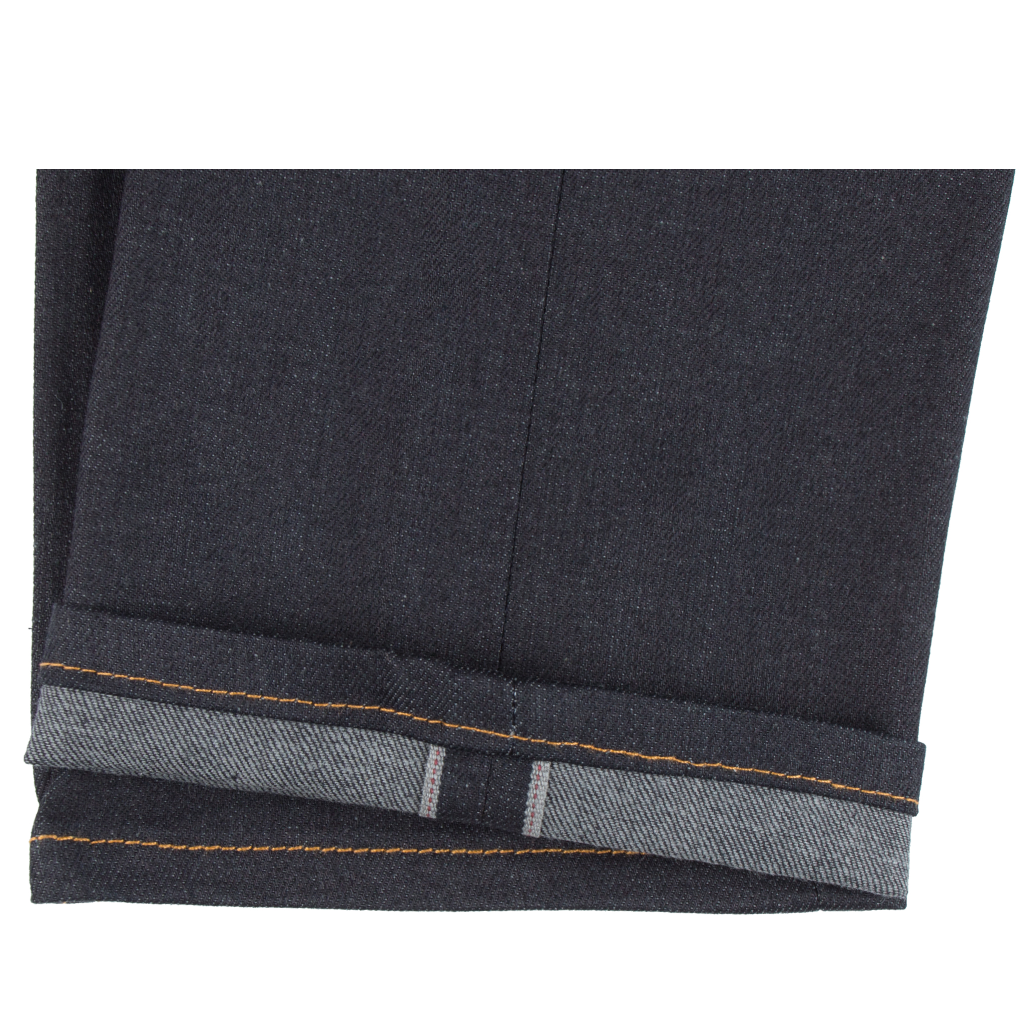Deep Indigo Stretch Selvedge Jeans Hem