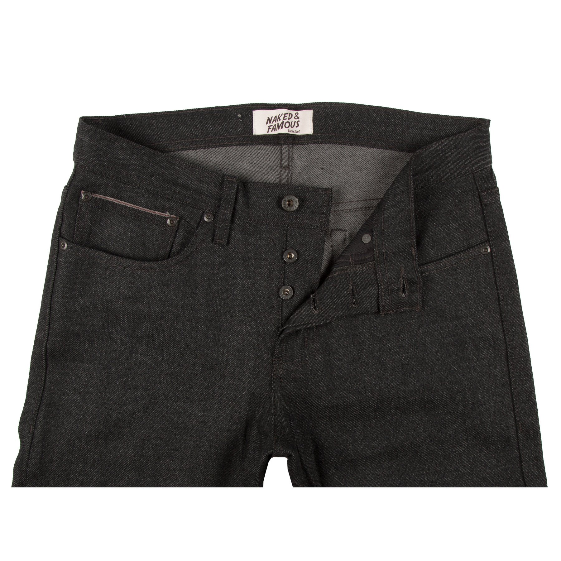 Black x Grey Stretch Selvedge Jeans Front