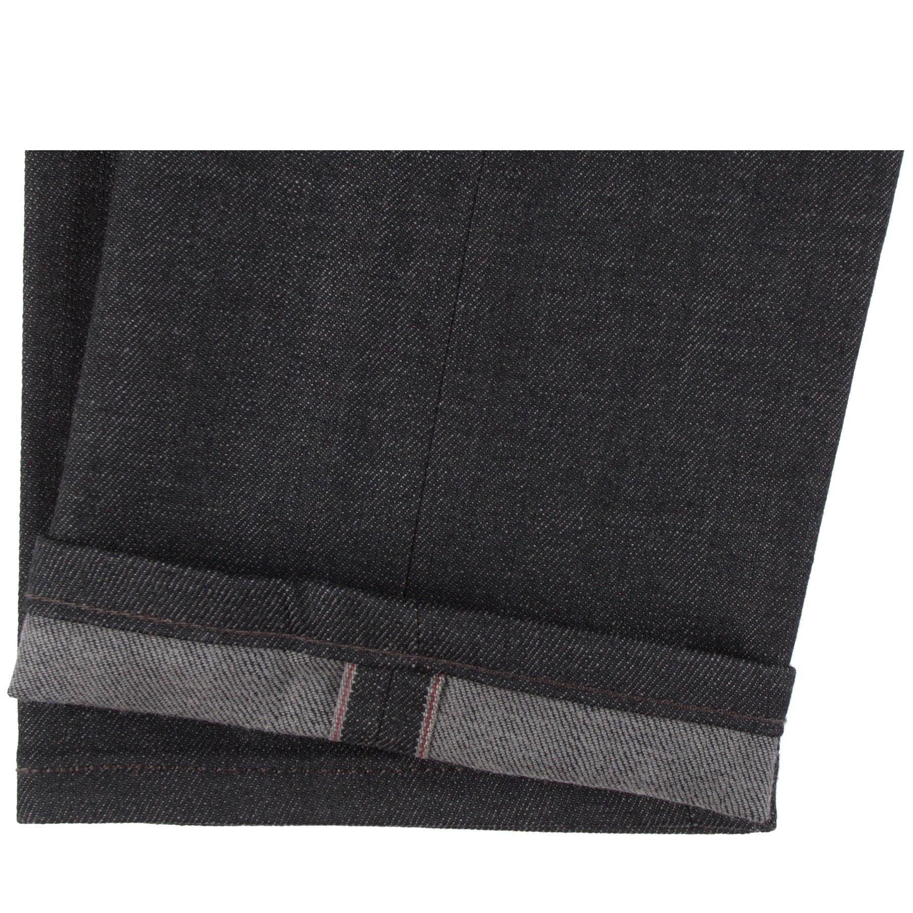 Black x Grey Stretch Selvedge Jeans Hem