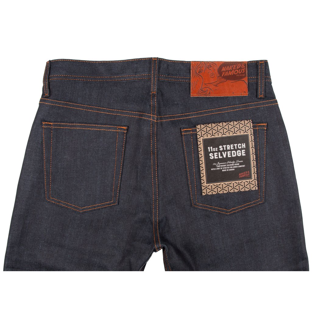 11oz Stretch Selvedge Jeans Back