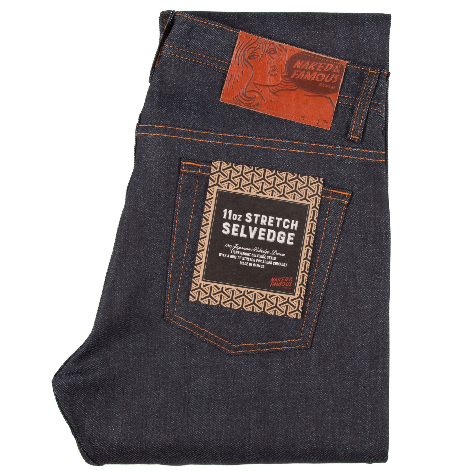 11oz Stretch Selvedge Jeans Folded