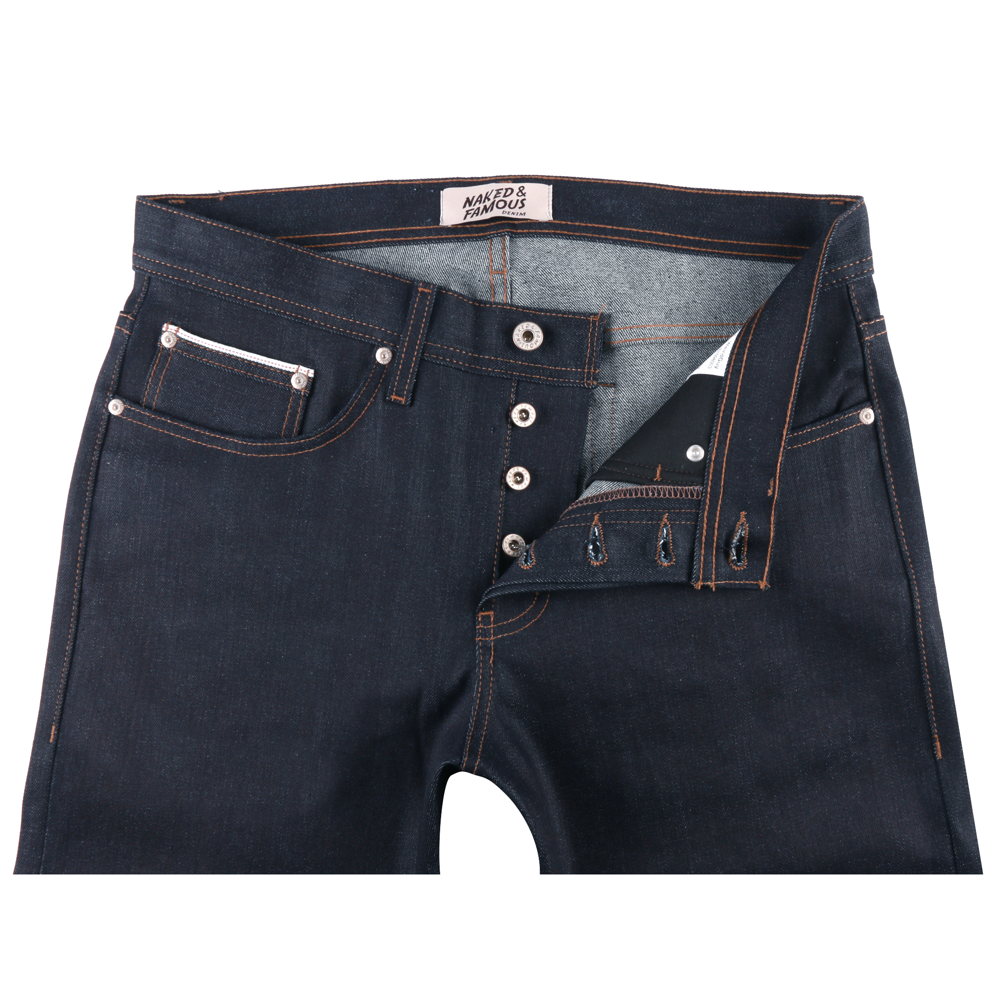 Night Shade Stretch Selvedge Jeans Front