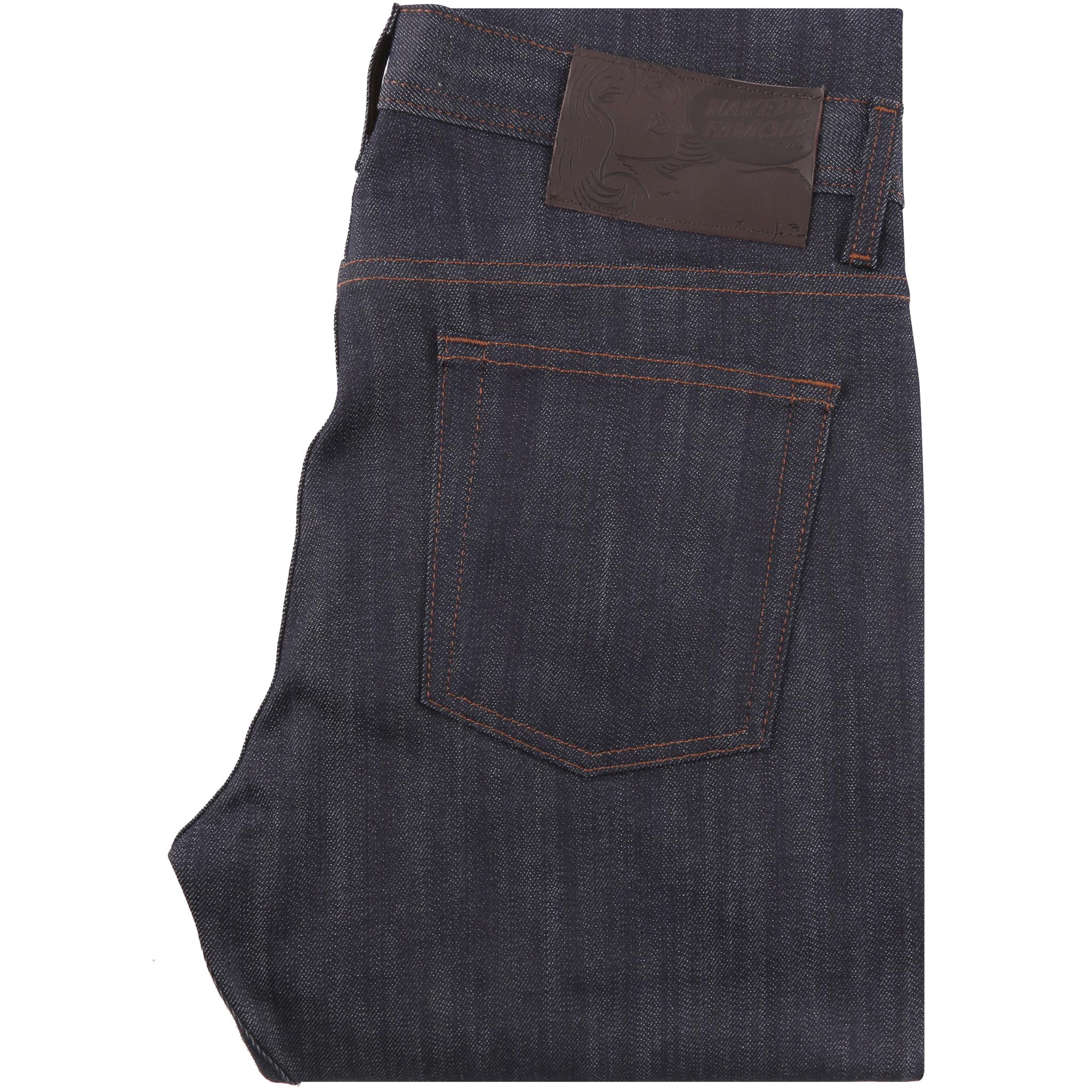 Indigo Power-Stretch Jeans Folded