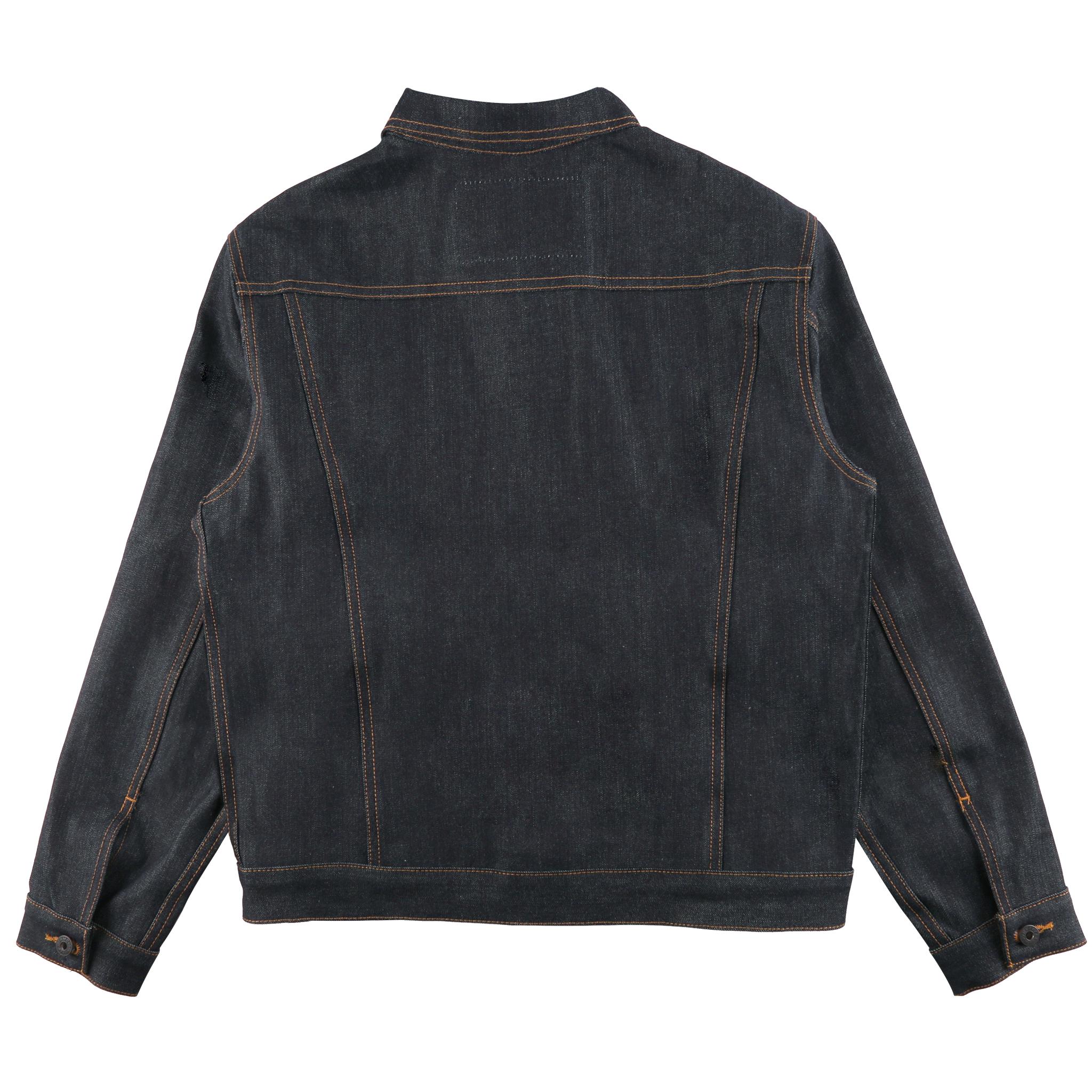 Guardian Selvedge Denim Jacket Back View
