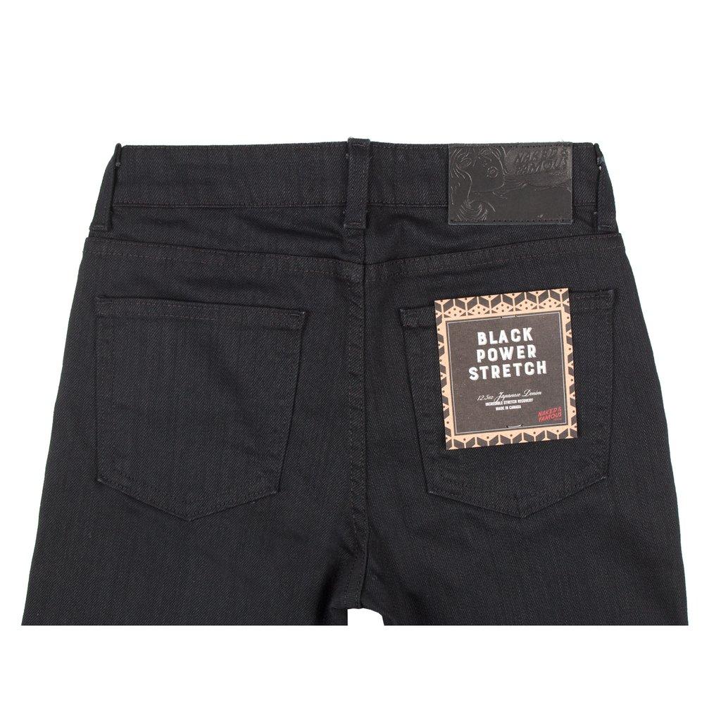 Women's Black Power-Stretch jeans back view