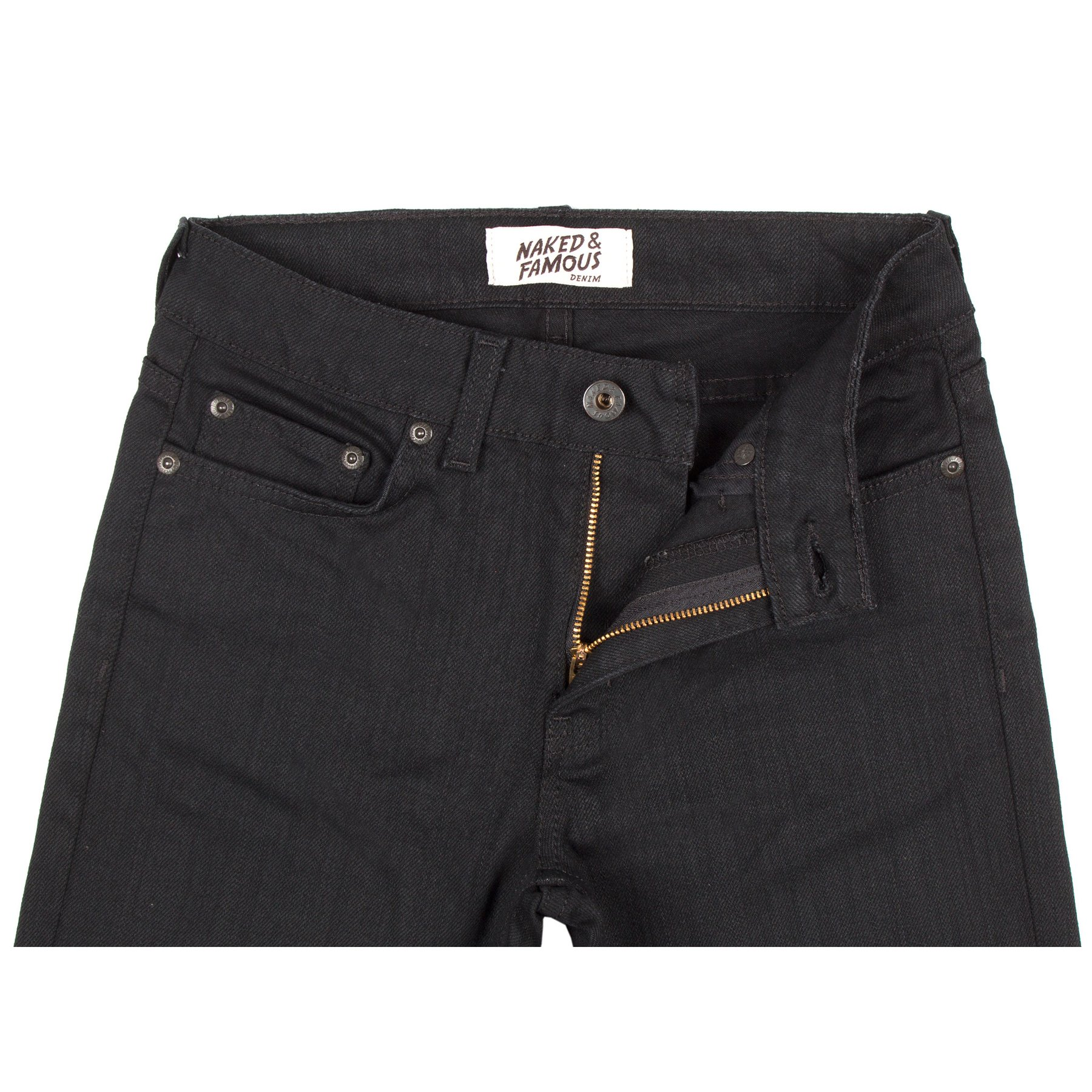 Women's Black Power-Stretch jeans front view