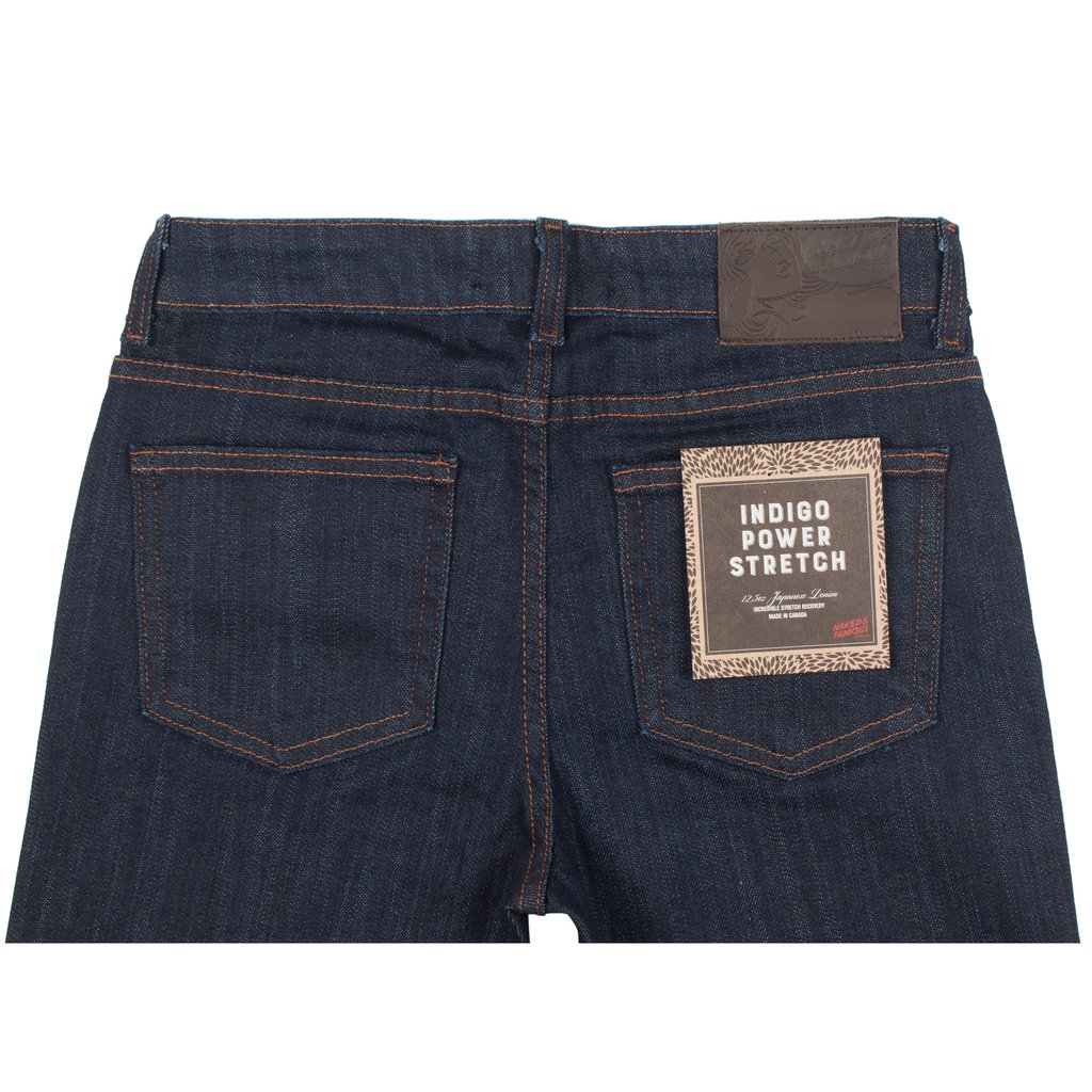 Women's Indigo Power-Stretch jeans back View