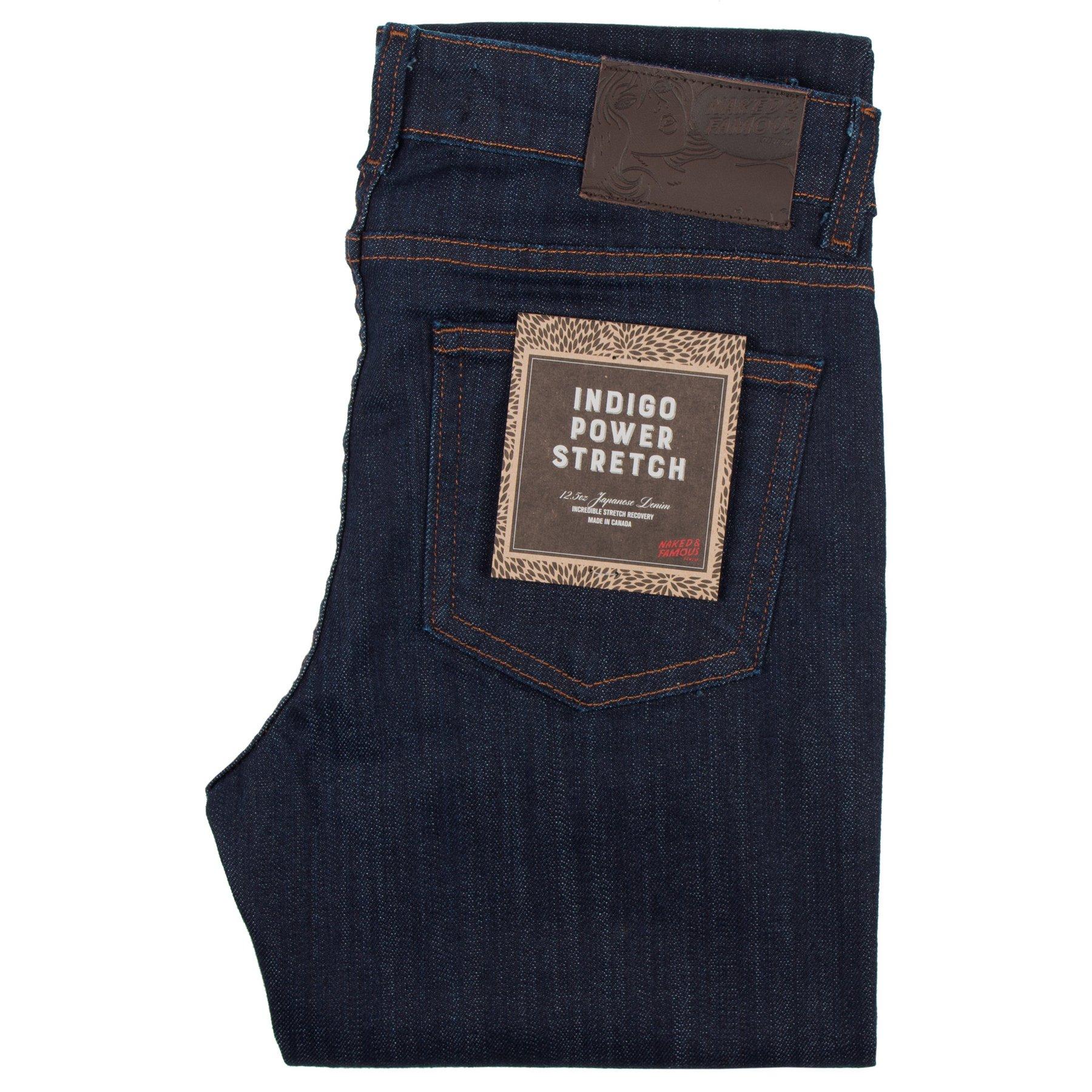 Women's Indigo Power-Stretch jeans Folded View