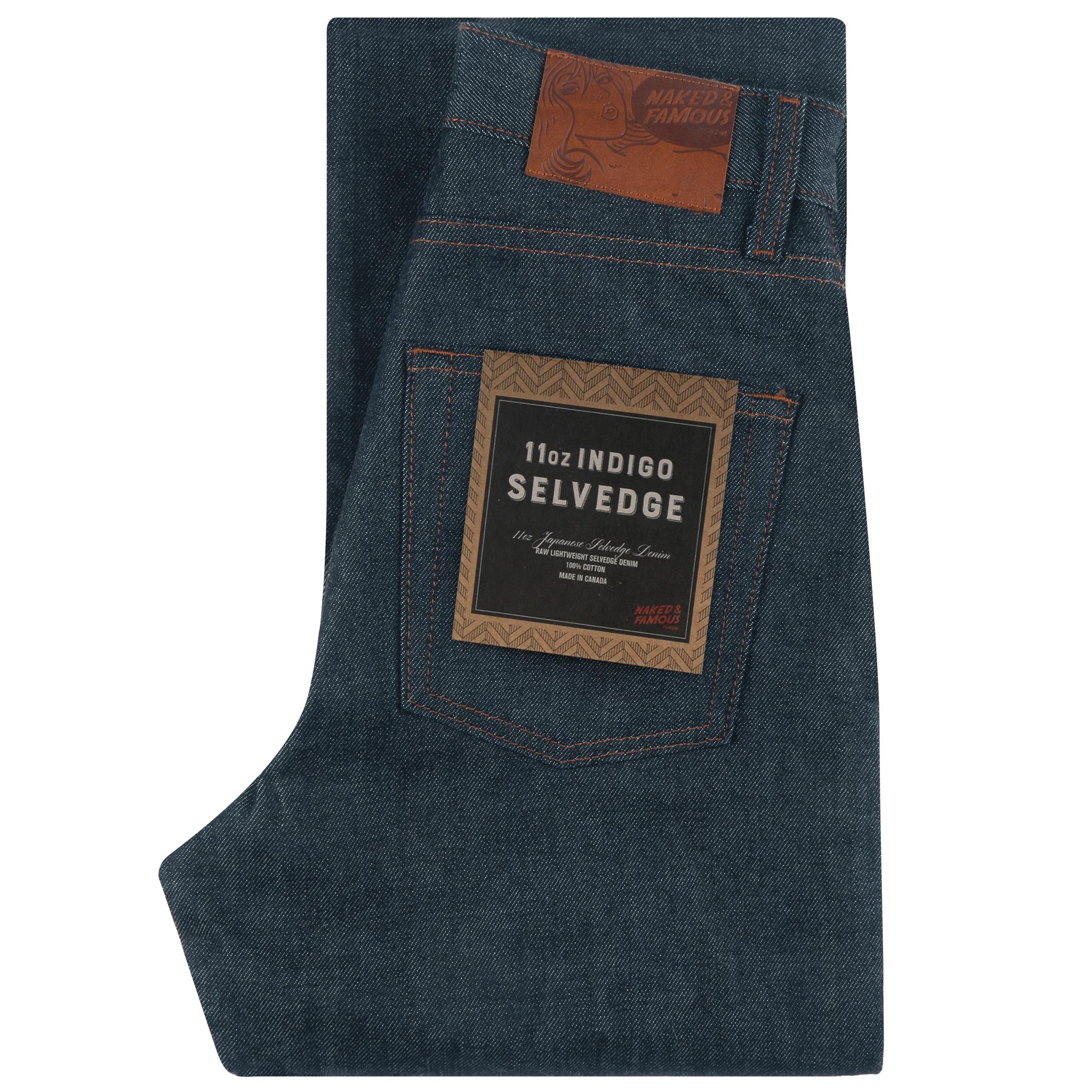 Women's 11oz Indigo Selvedge jeans folded view