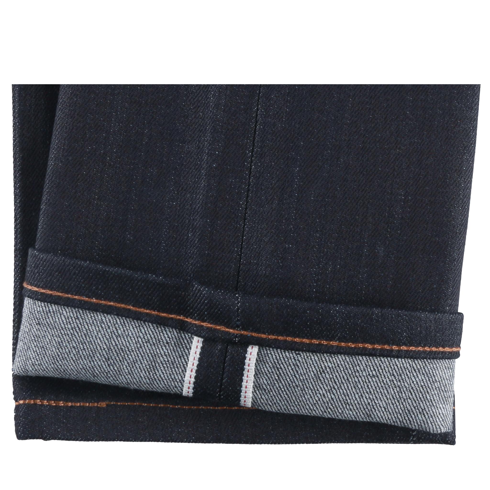 Women's Night Shade Stretch Selvedge Jeans hem