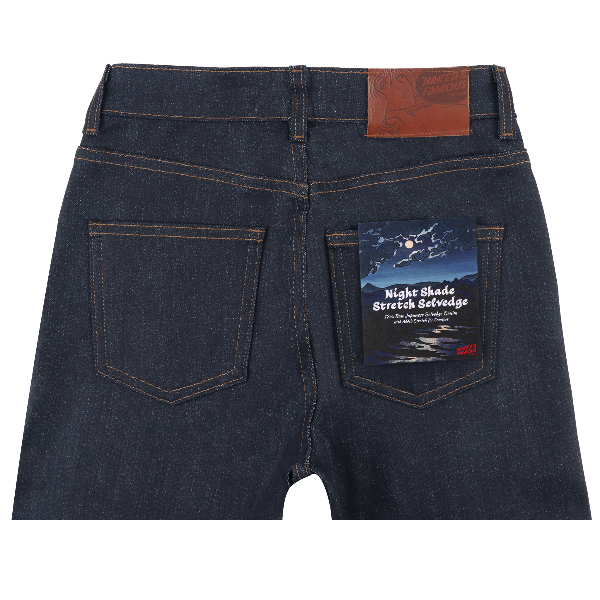 Women's Night Shade Stretch Selvedge Jeans back view