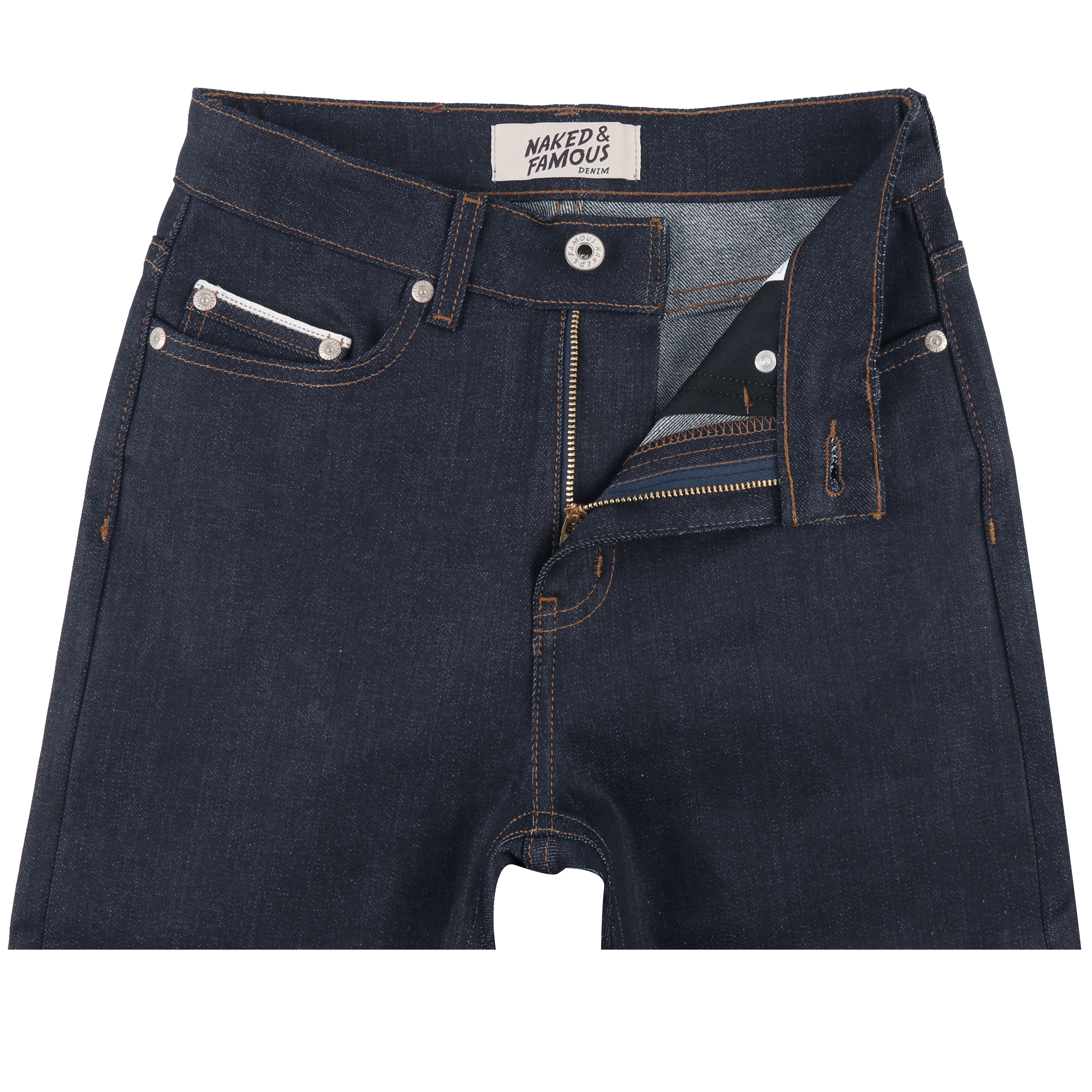 Women's Night Shade Stretch Selvedge Jeans front view