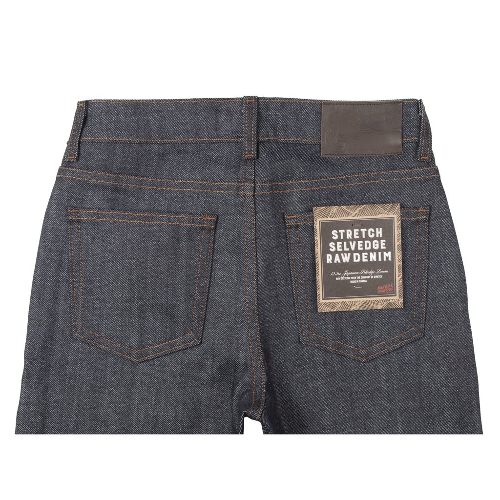 Women's Stretch Selvedge jeans back view