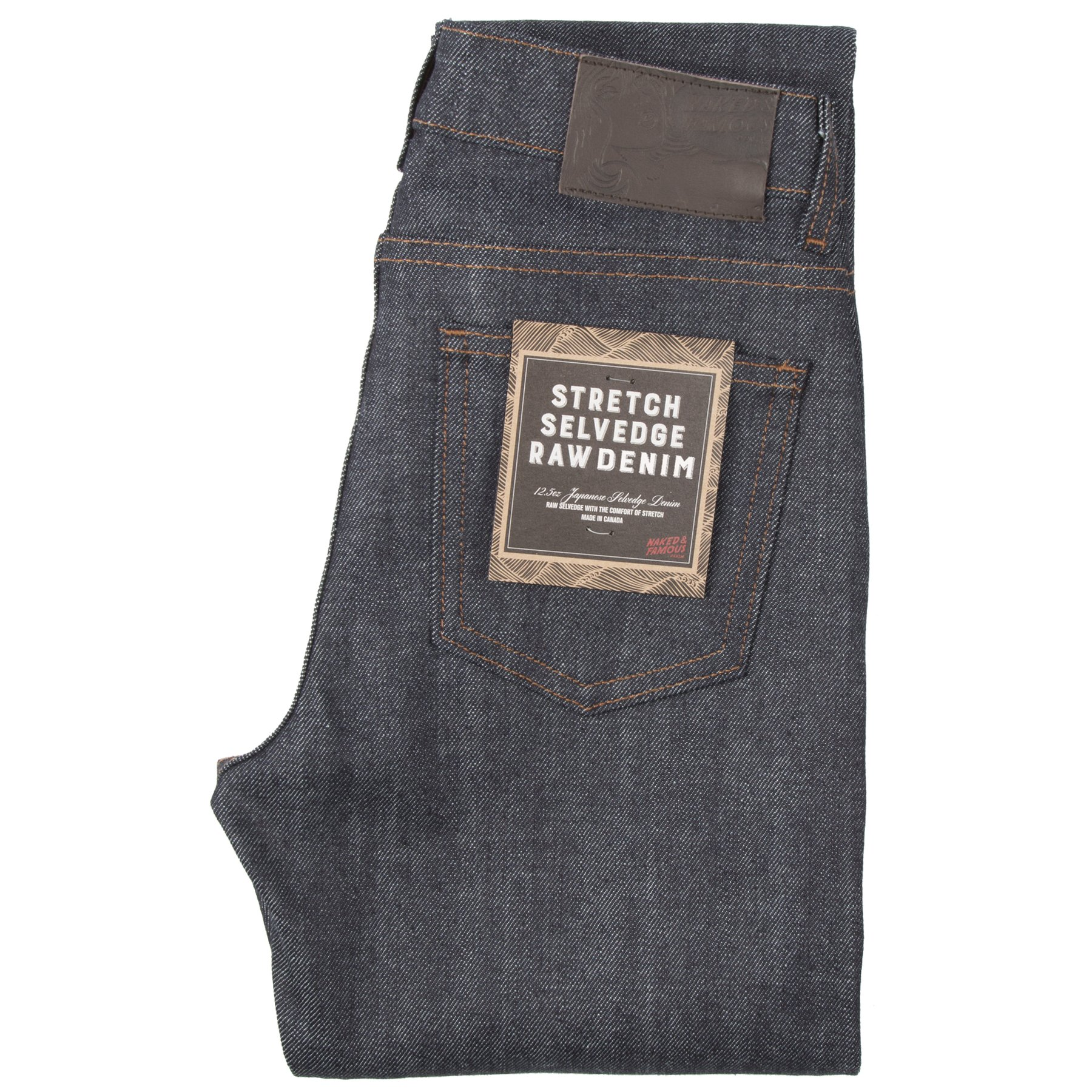 Women's Stretch Selvedge jeans folded view