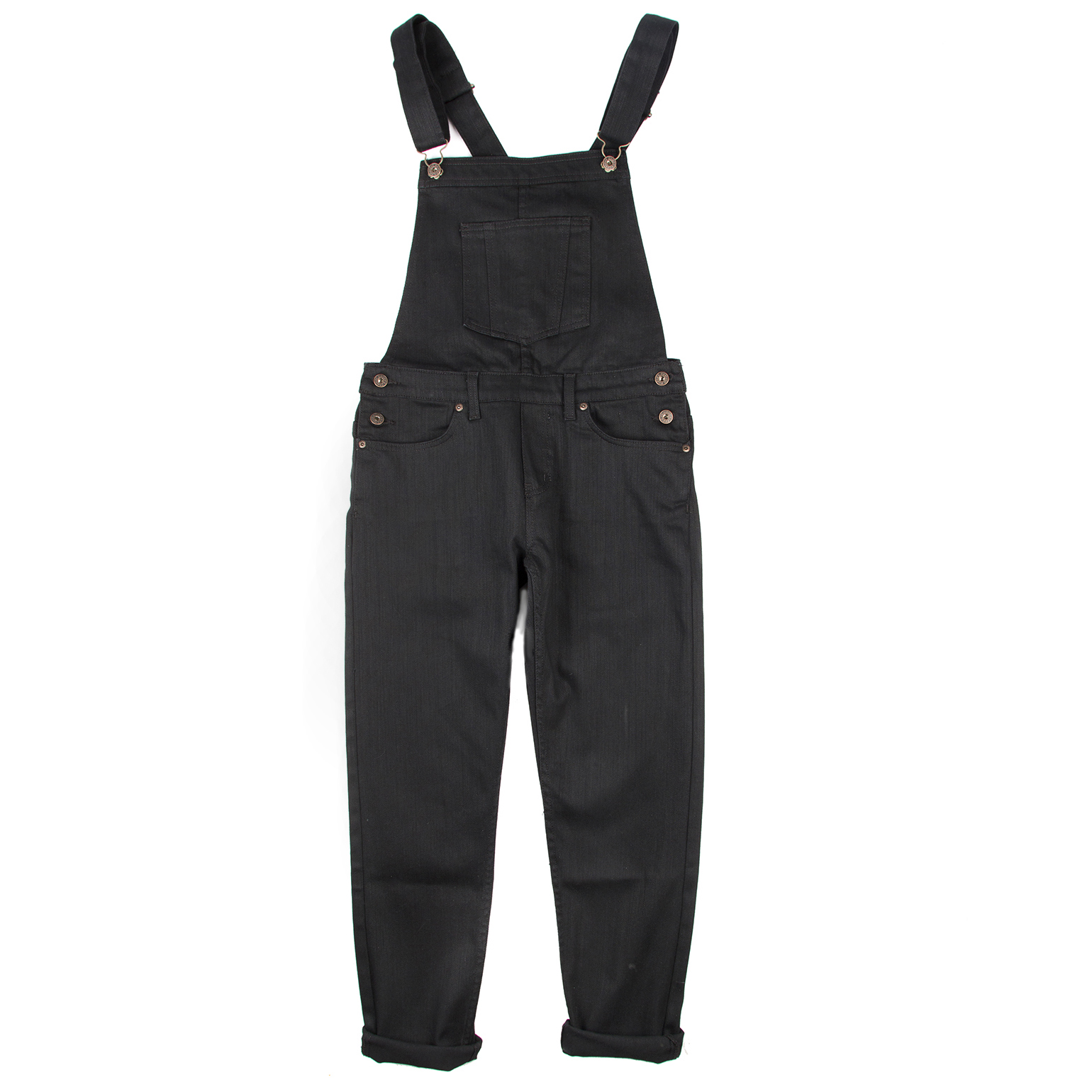 Women's Overalls Black Power-Stretch Flat View