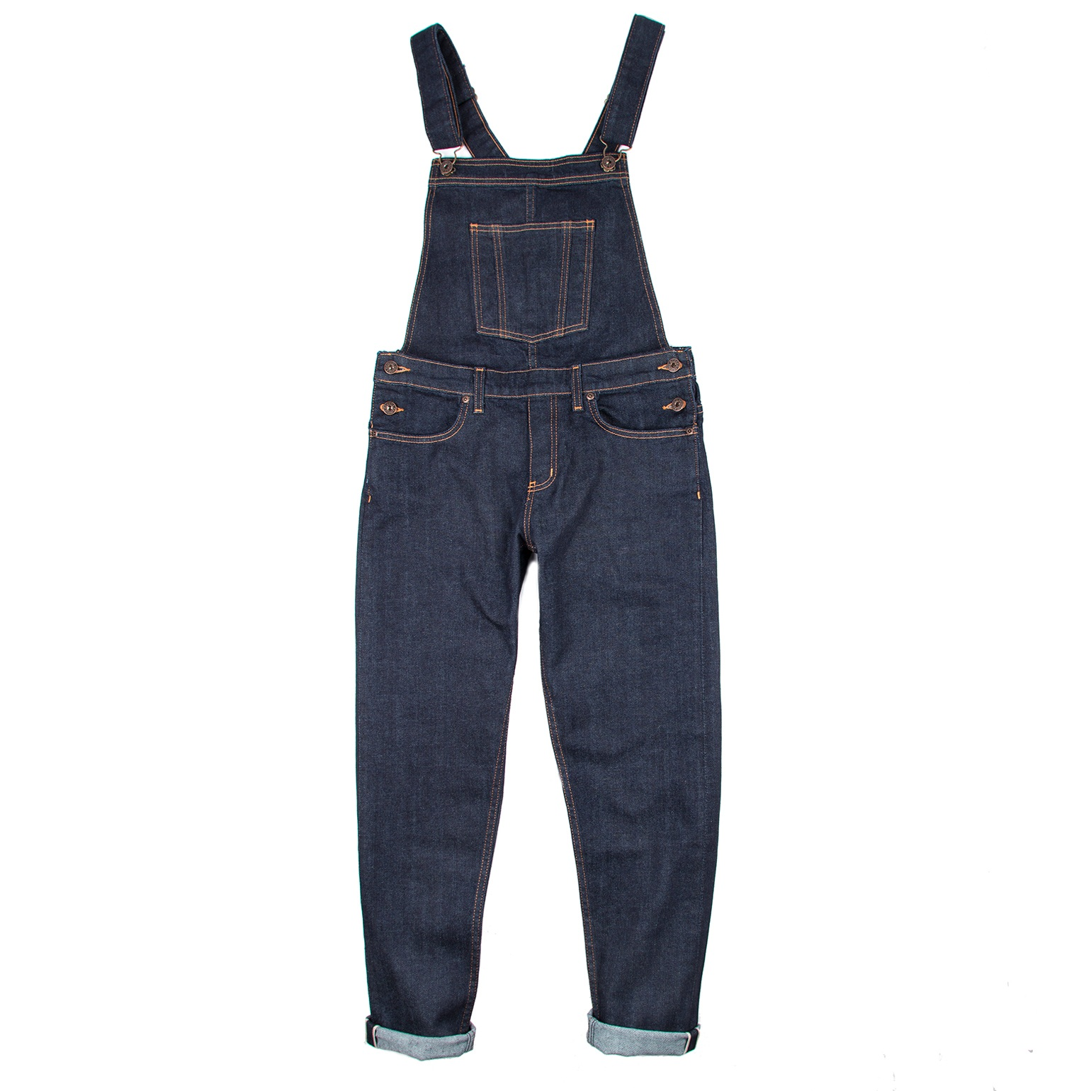 Women's Overalls 11oz Stretch Selvedge Flat View