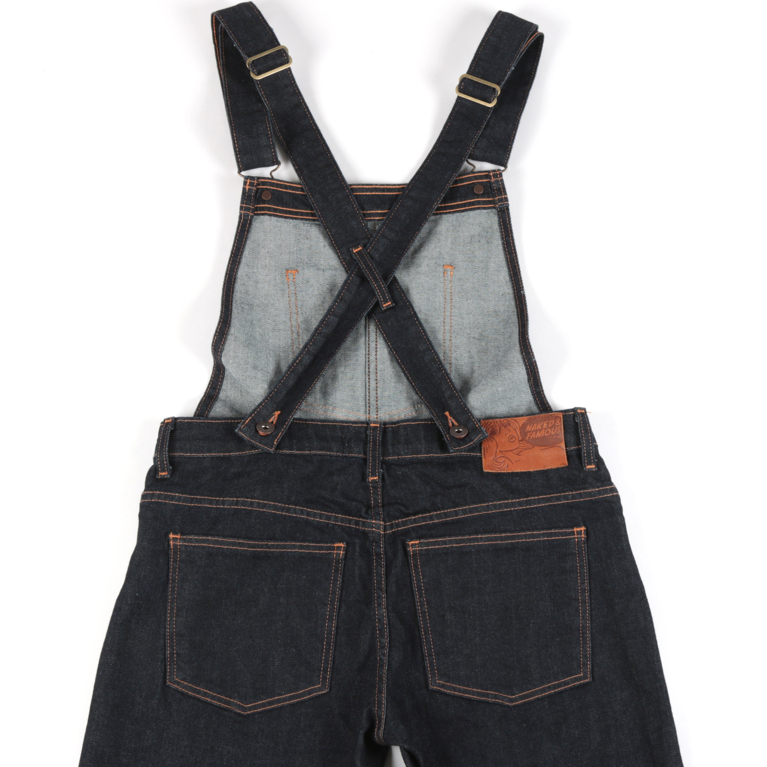 Women's Overalls 11oz Stretch Selvedge Back View
