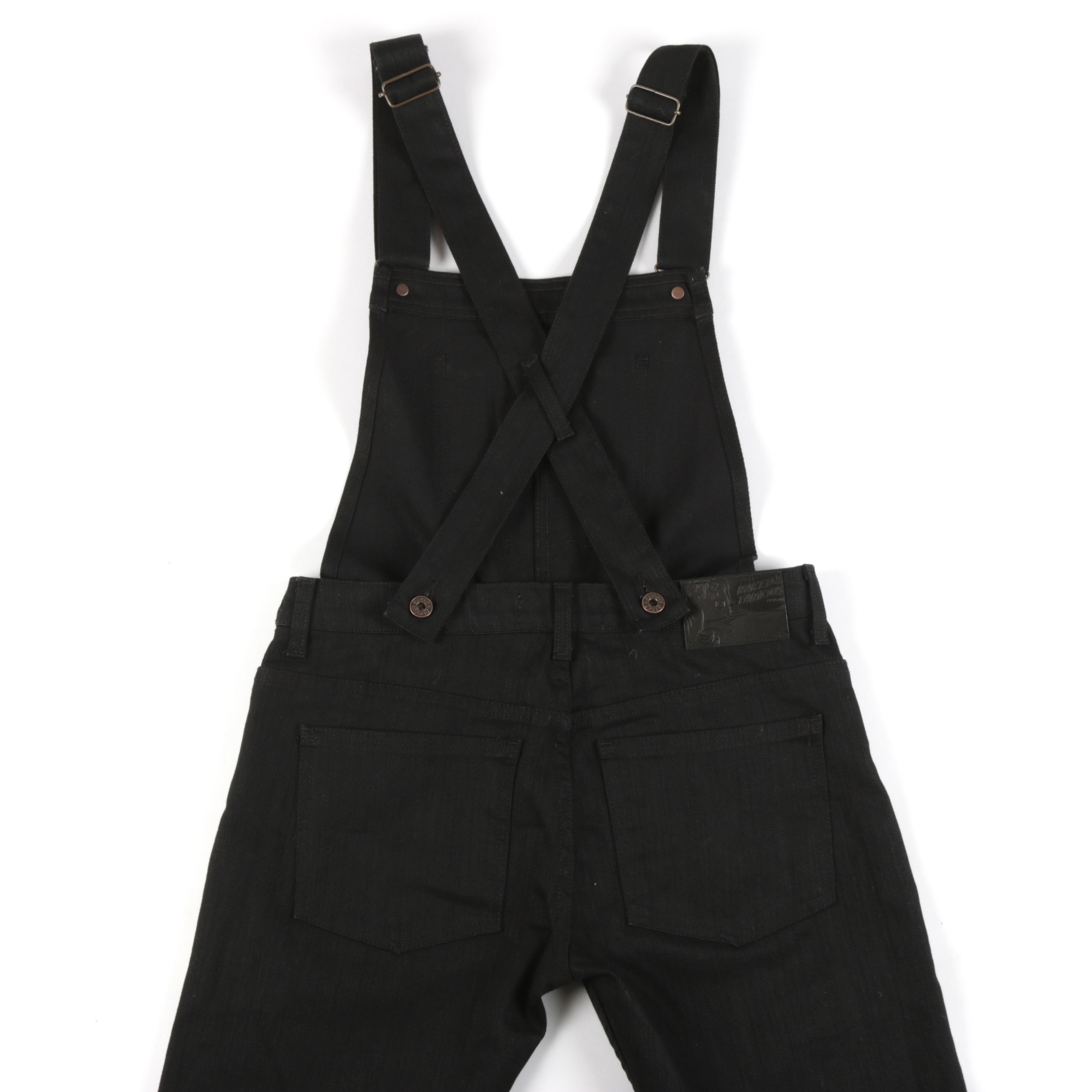 Women's Overalls Black Power-Stretch Back View