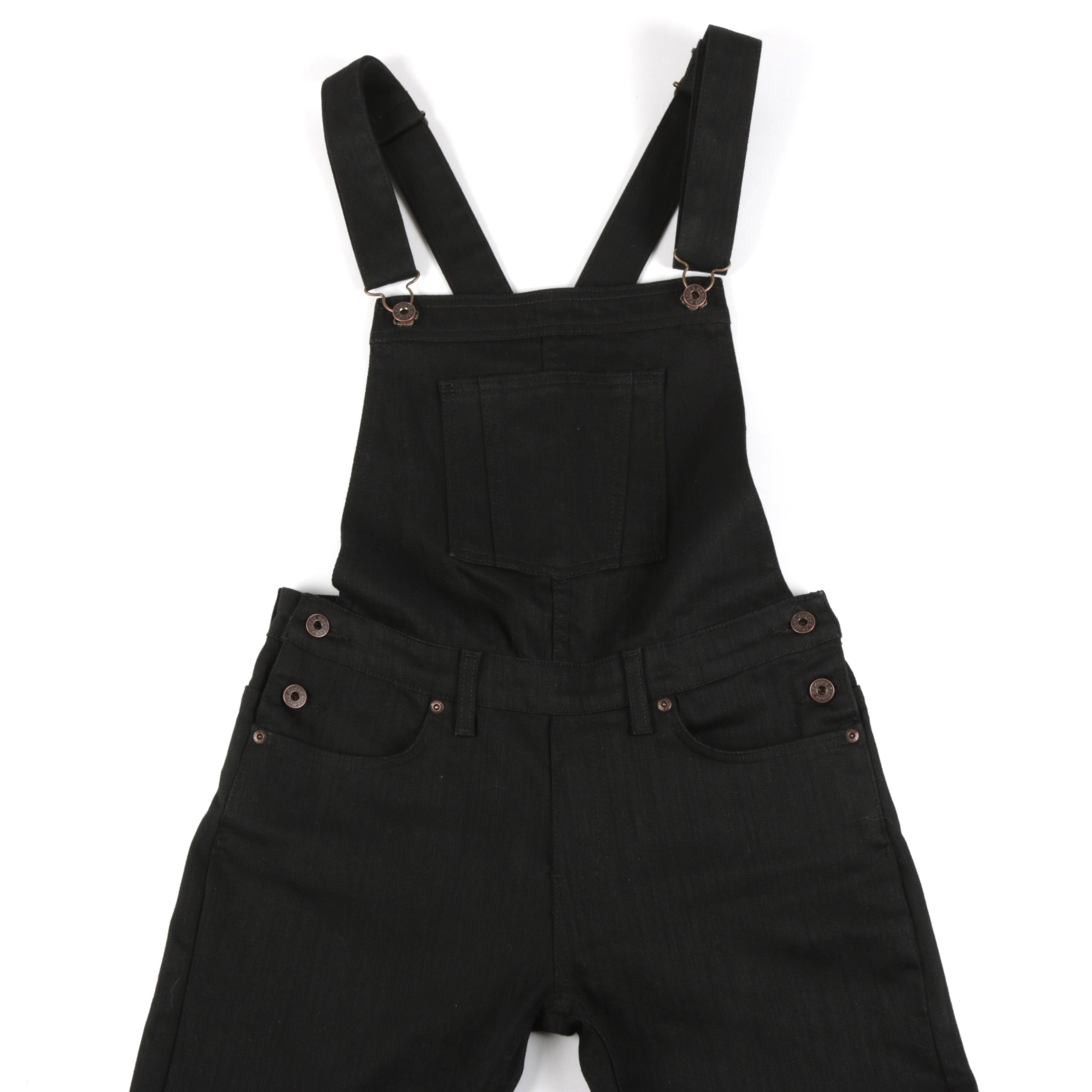 Women's Overalls Black Power-Stretch Front View