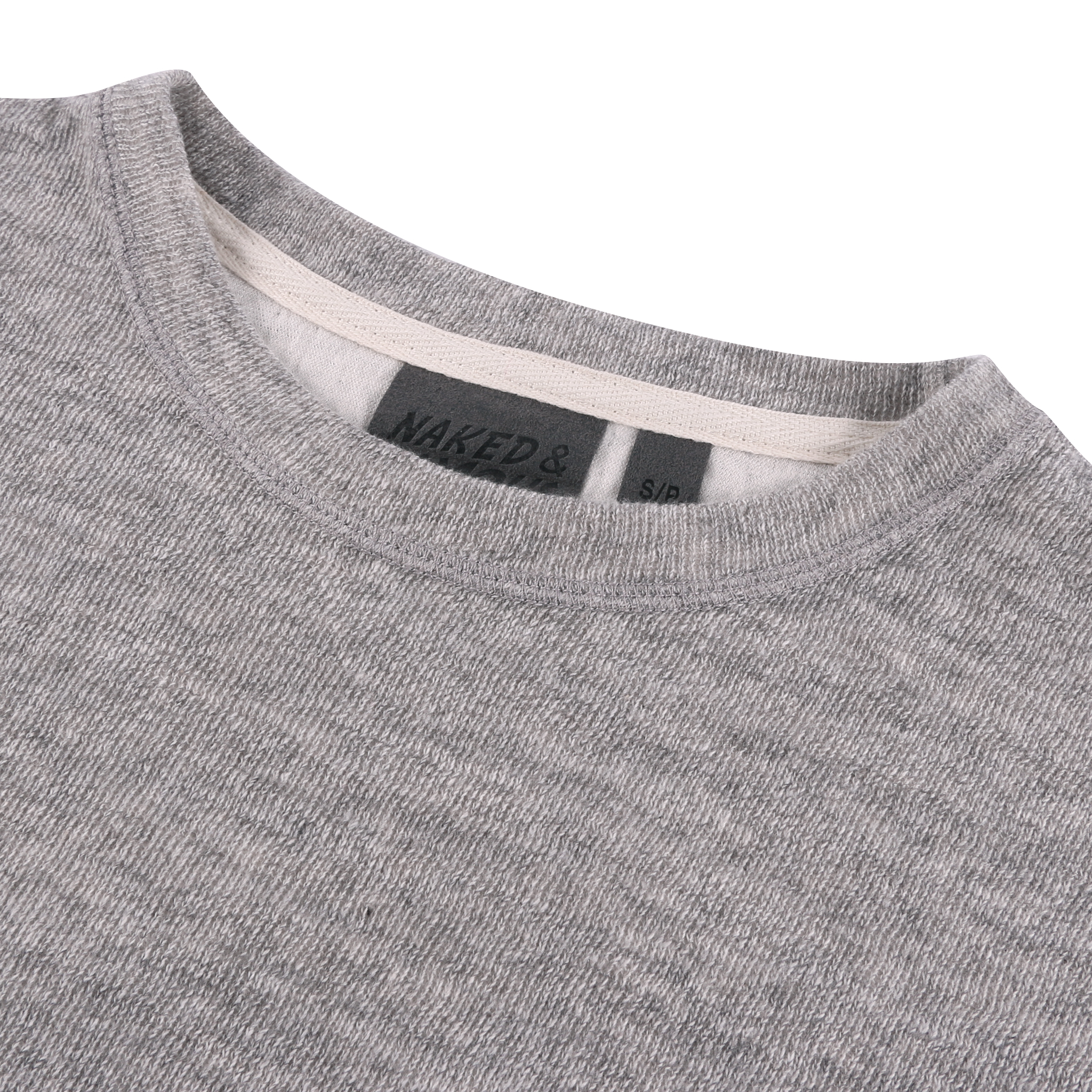 Women's Weekend Crew Vintage Double Face Grey Collar View