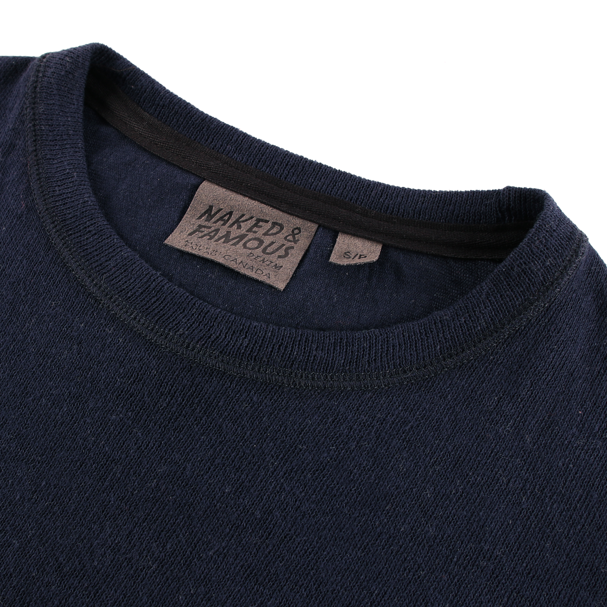Women's Weekend Crew Vintage Double Face Navy Collar View