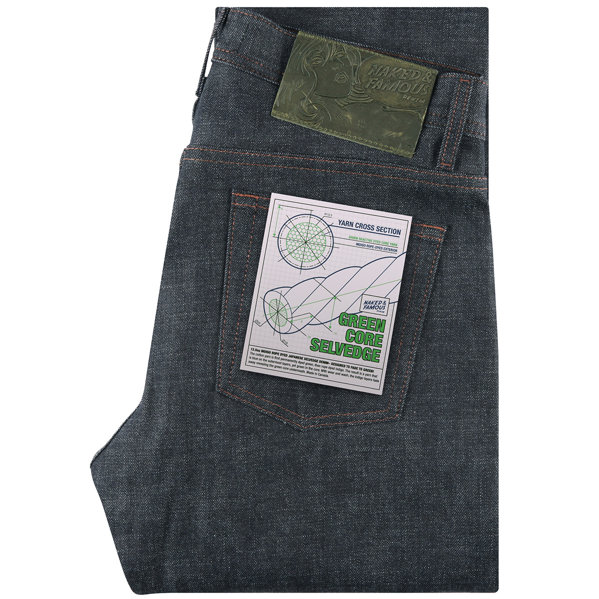 GREEN CORE SELVEDGE - Super Guy / Weird Guy / Easy Guy