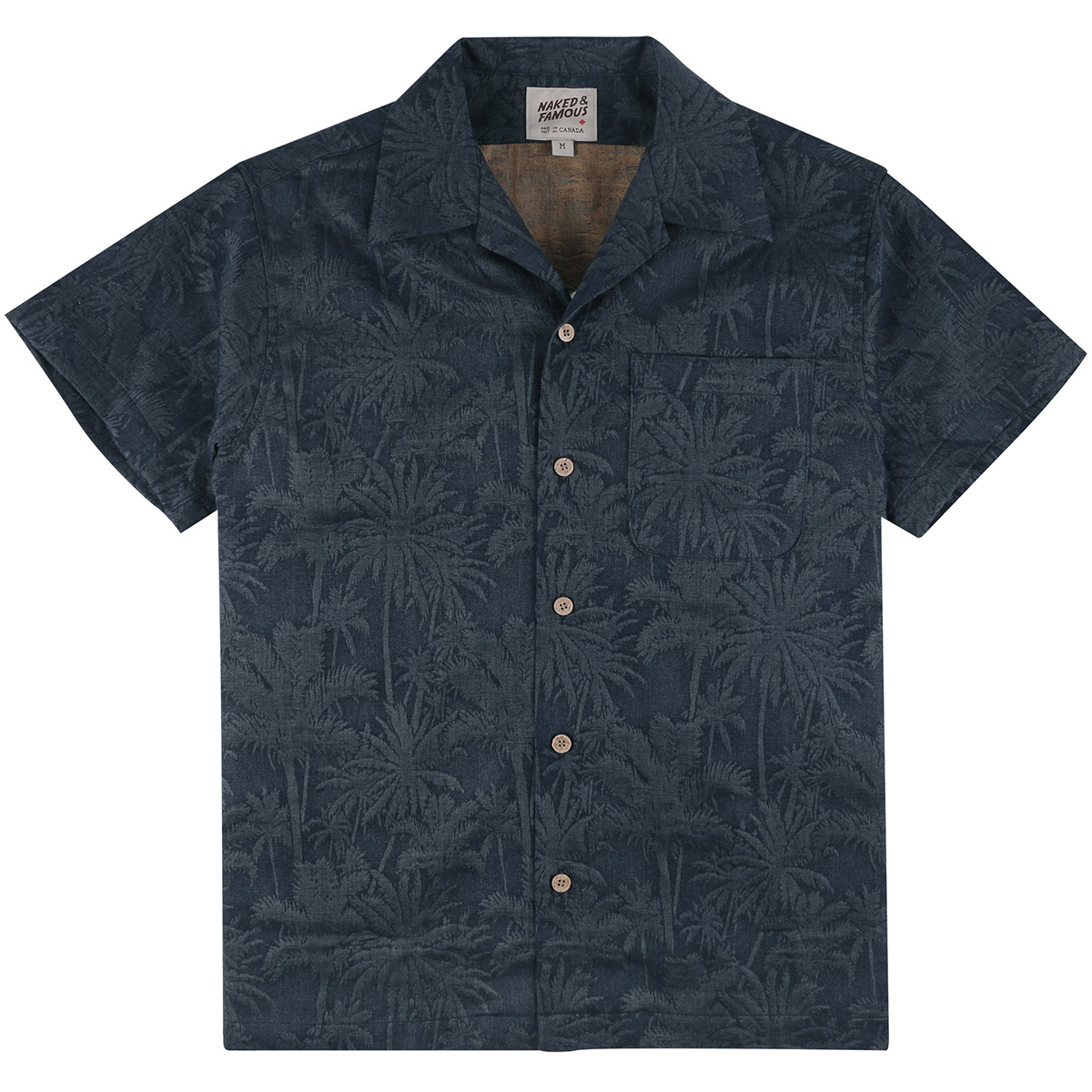 DOUBLE JACQUARD TROPICAL - BLUE - Aloha Shirt