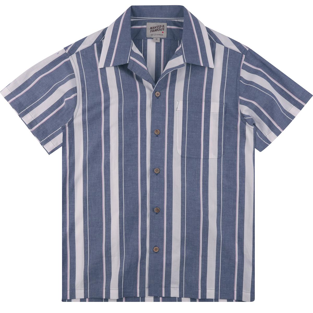 CHAMBRAY SLUB STRIPE - INDIGO - Aloha Shirt
