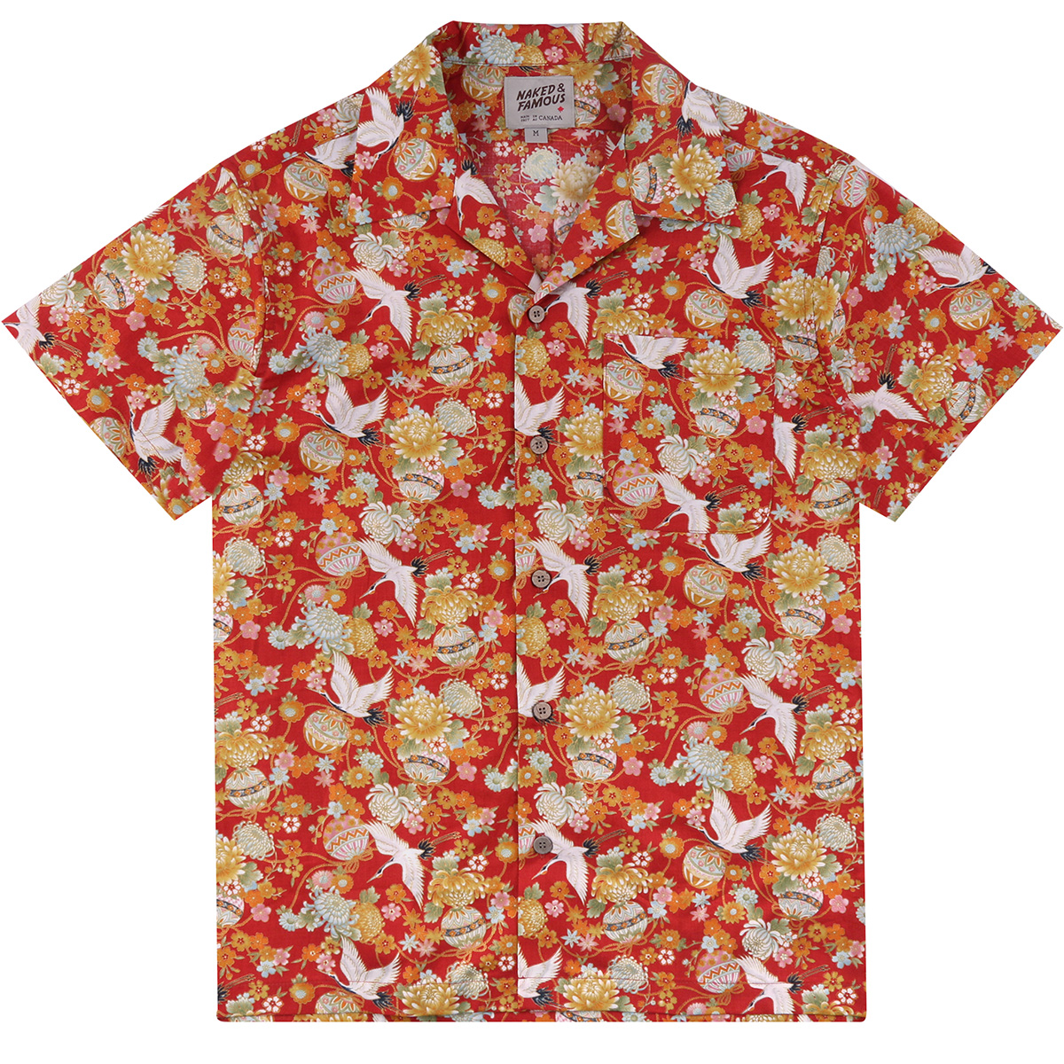 JAPAN TSURU FESTIVAL - RED - Aloha Shirt