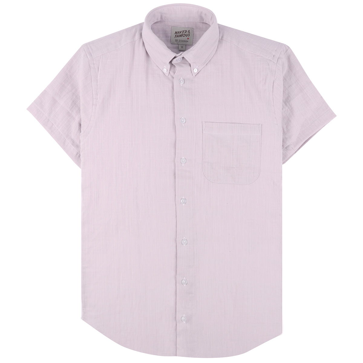DOUBLE WEAVE GAUZE SLUB - LAVENDER - Short Sleeve Easy Shirt