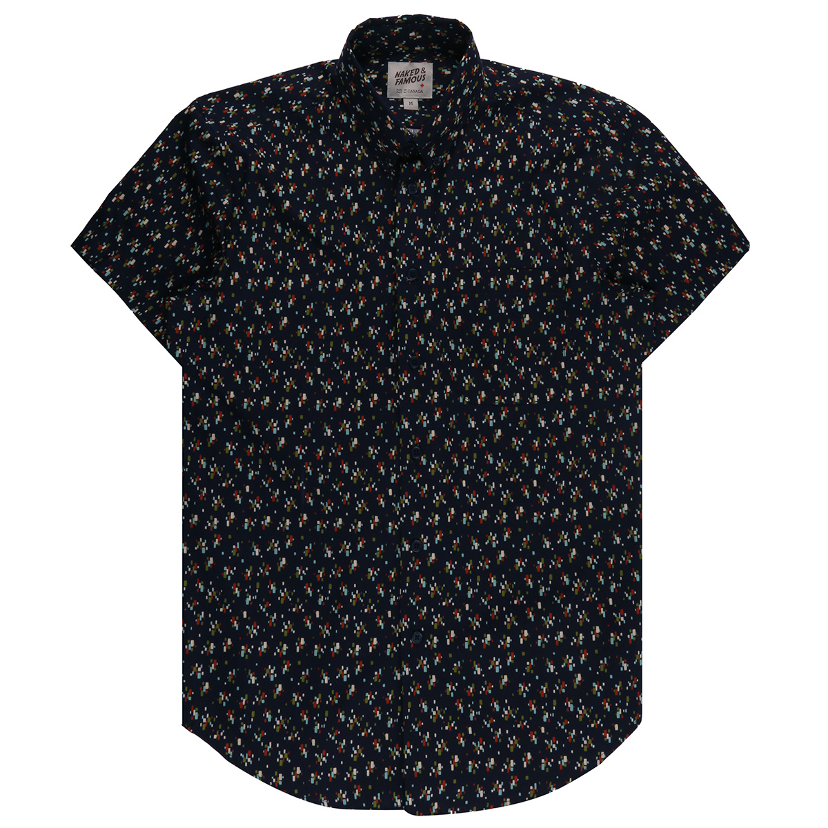 VINTAGE MOD PRINT - NAVY - Short Sleeve Easy Shirt