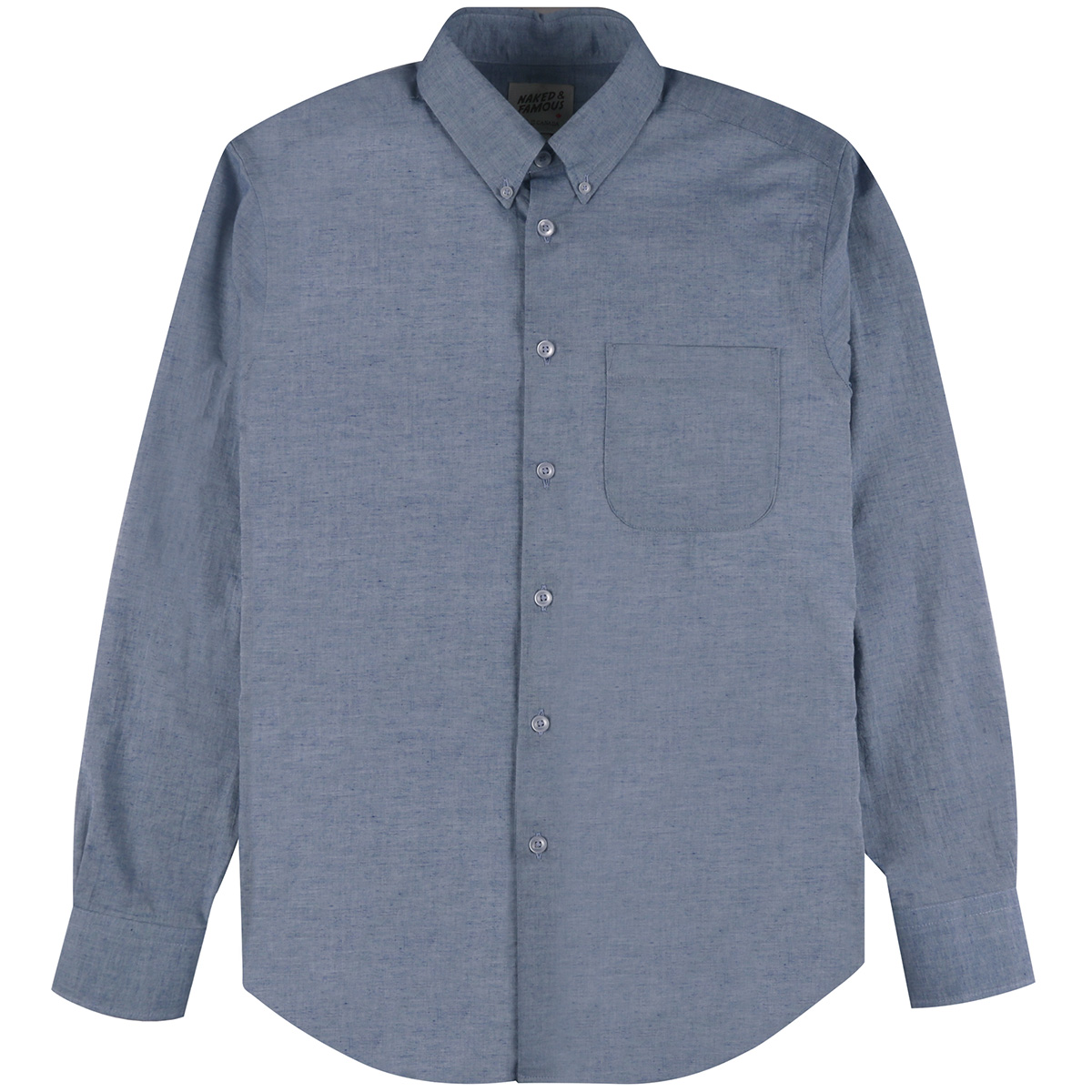 HEATHER GAUZE - BLUE - Easy Shirt