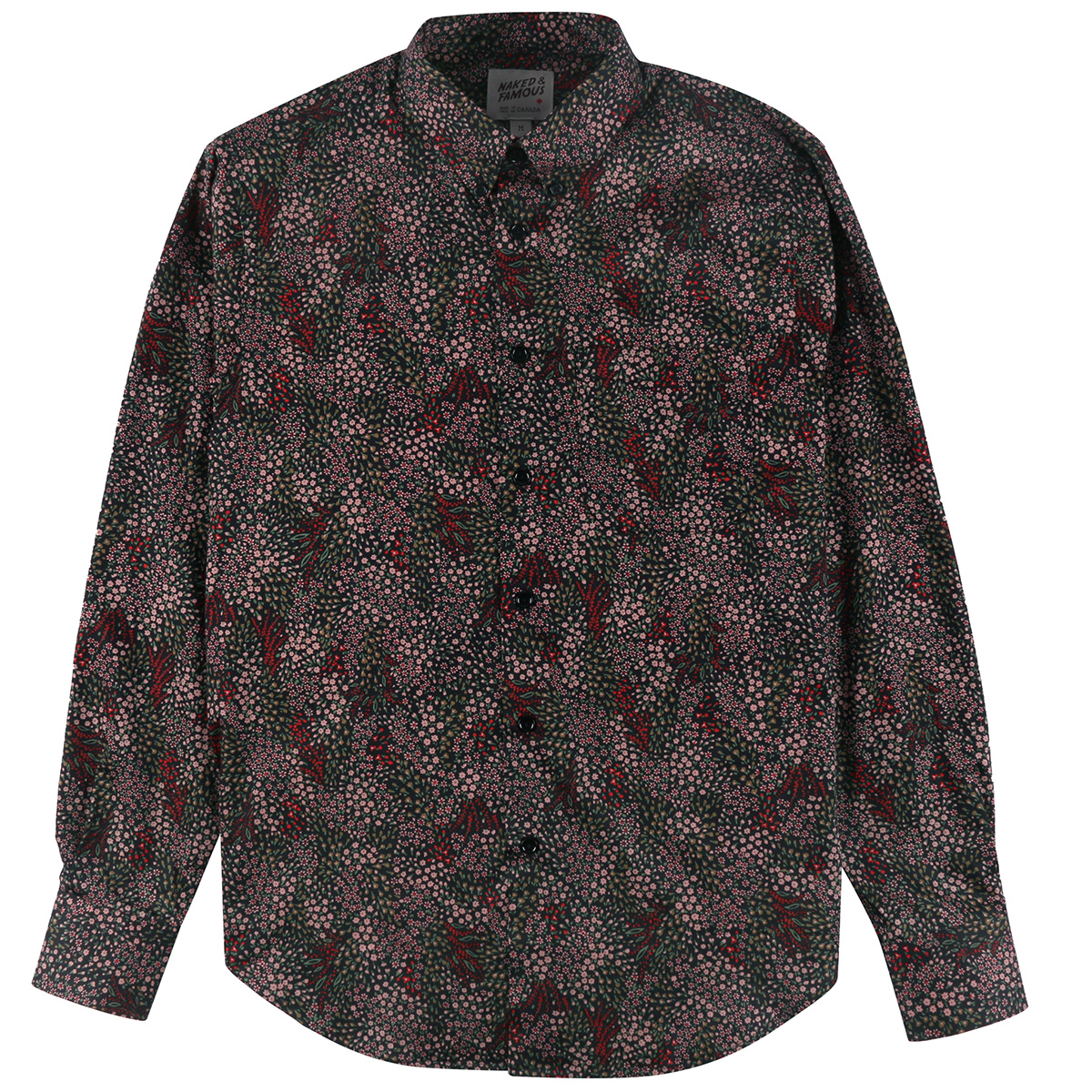 ALLOVER FLOWERS - BLACK - Easy Shirt