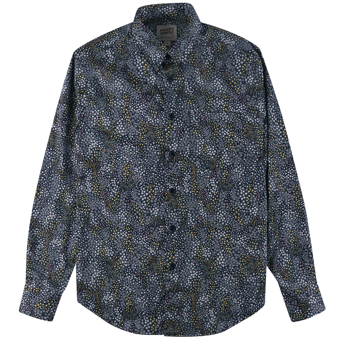 ALLOVER FLOWERS - NAVY - Easy Shirt