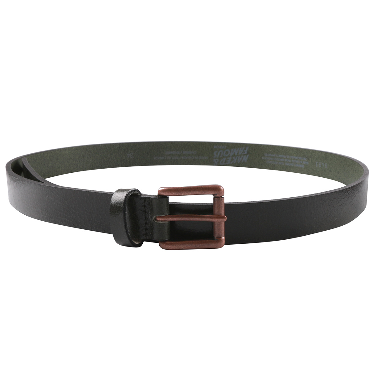 FOREST GREEN BUFFALO LEATHER - Buffalo Belt