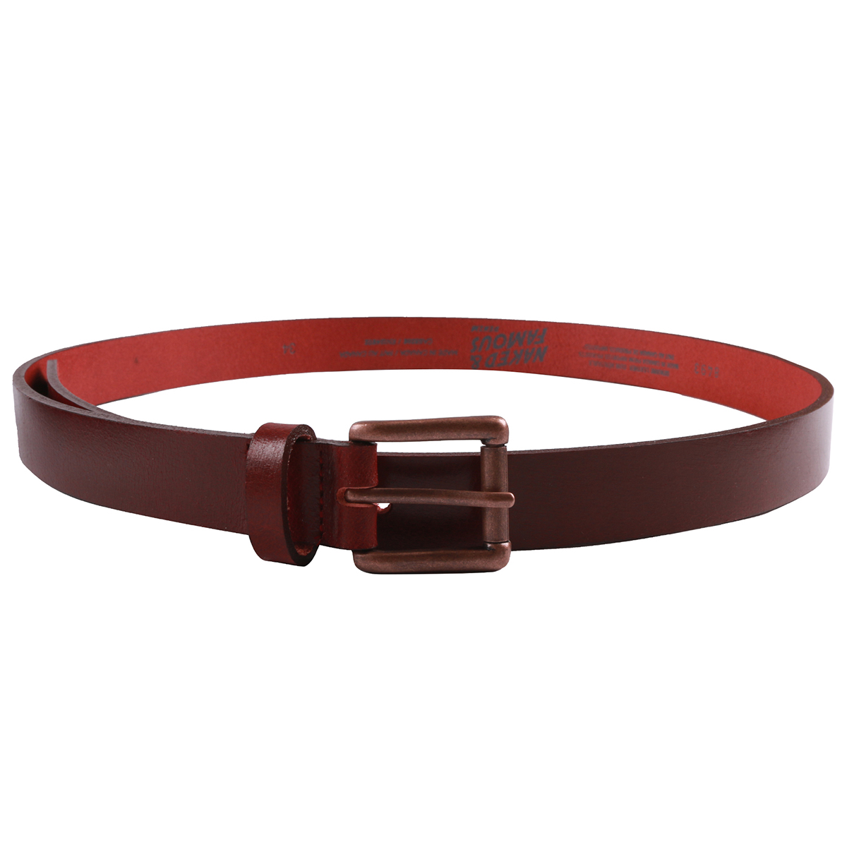 DEEP RED BUFFALO LEATHER - Buffalo Belt