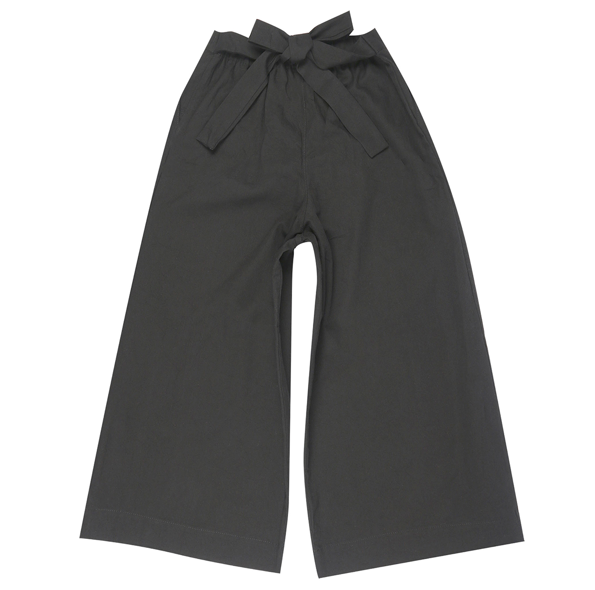 CHARCOAL RINSED OXFORD - Wide Pants
