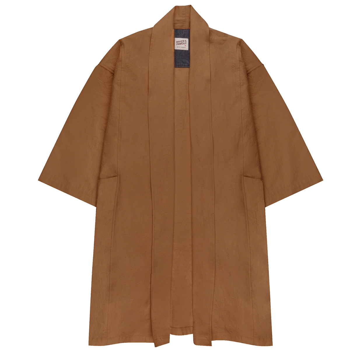 CAMEL RINSED OXFORD - Overcoat