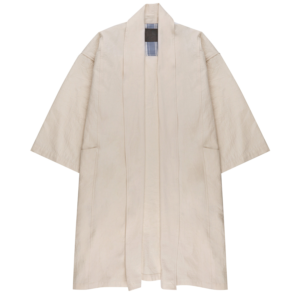 OFF WHITE RINSED OXFORD - Overcoat