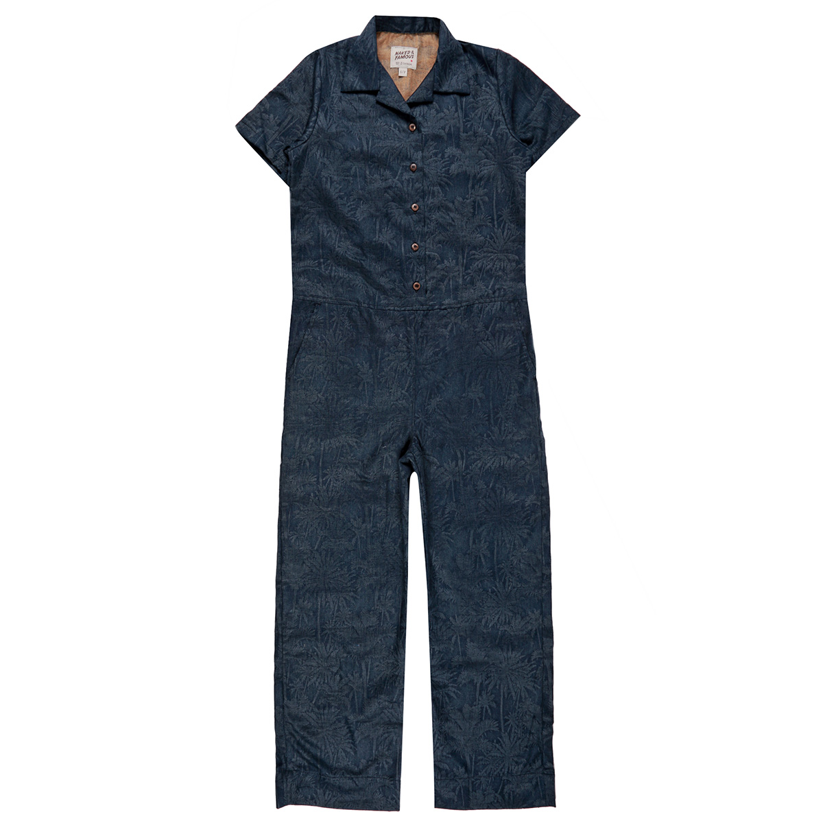 DOUBLE JACQUARD TROPICAL - BLUE - Jumpsuit