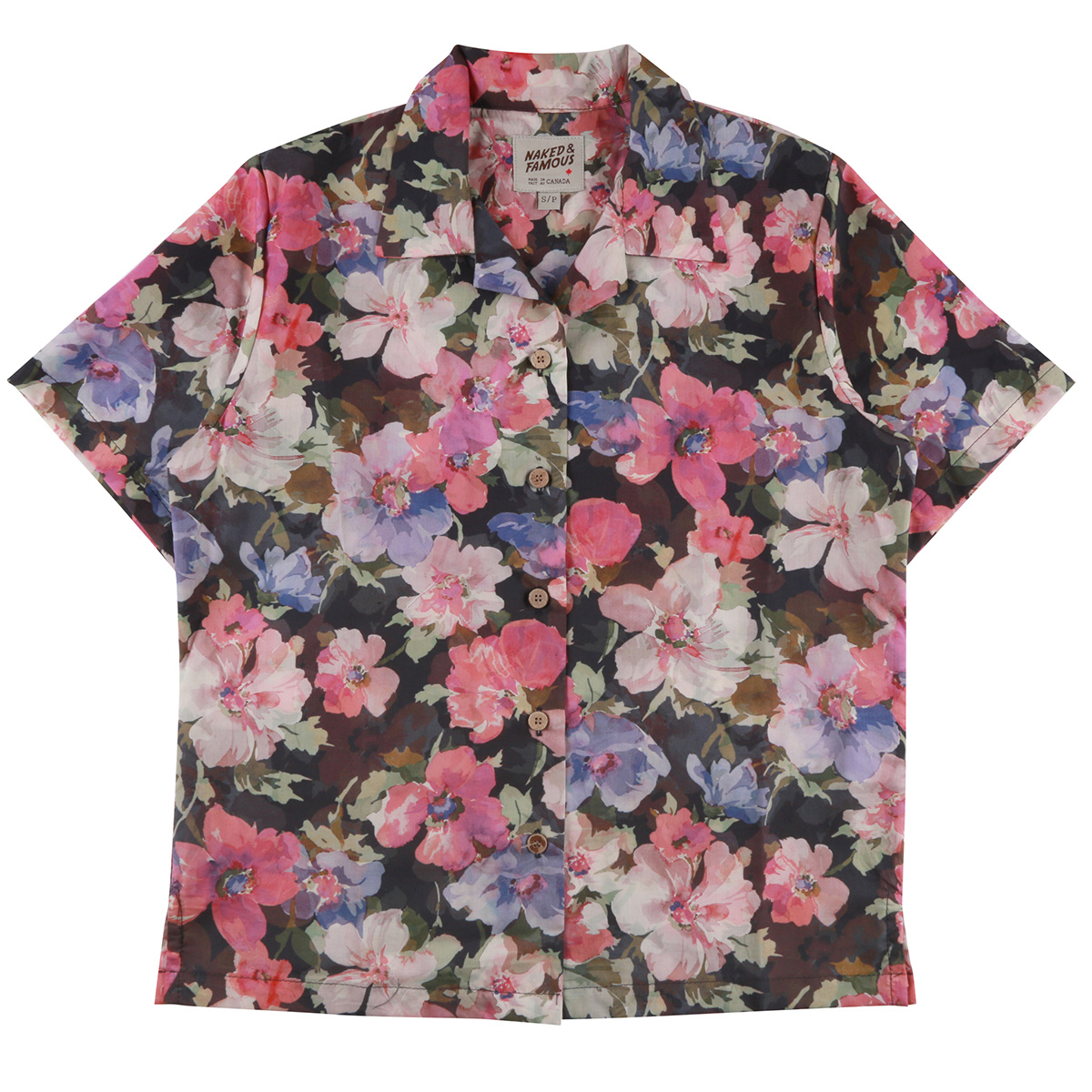 FLOWER PAINTING - PINK - Camp Collar Shirt